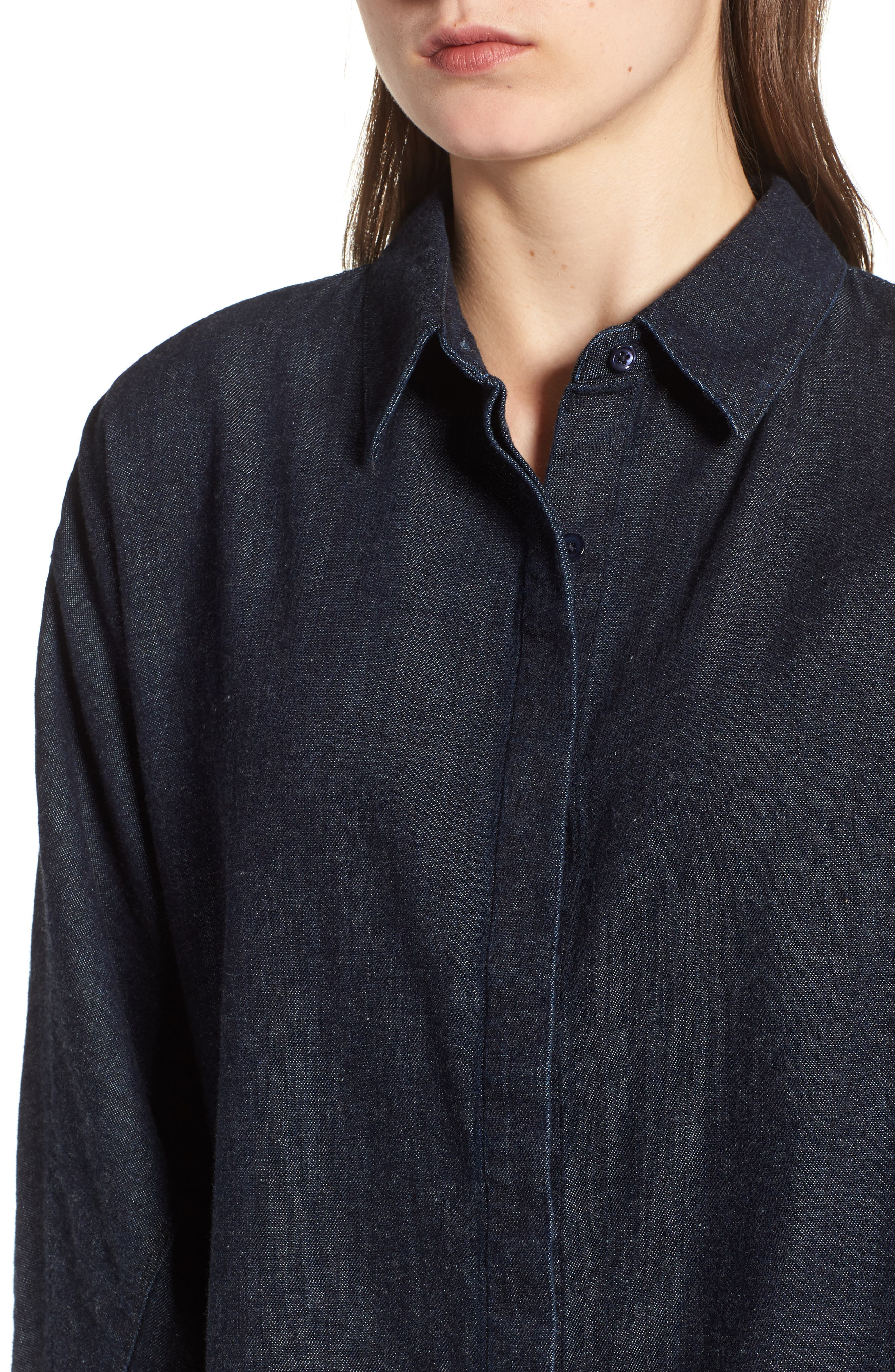 Acoustic Denim Shirt,                             Alternate thumbnail 4, color,                             439