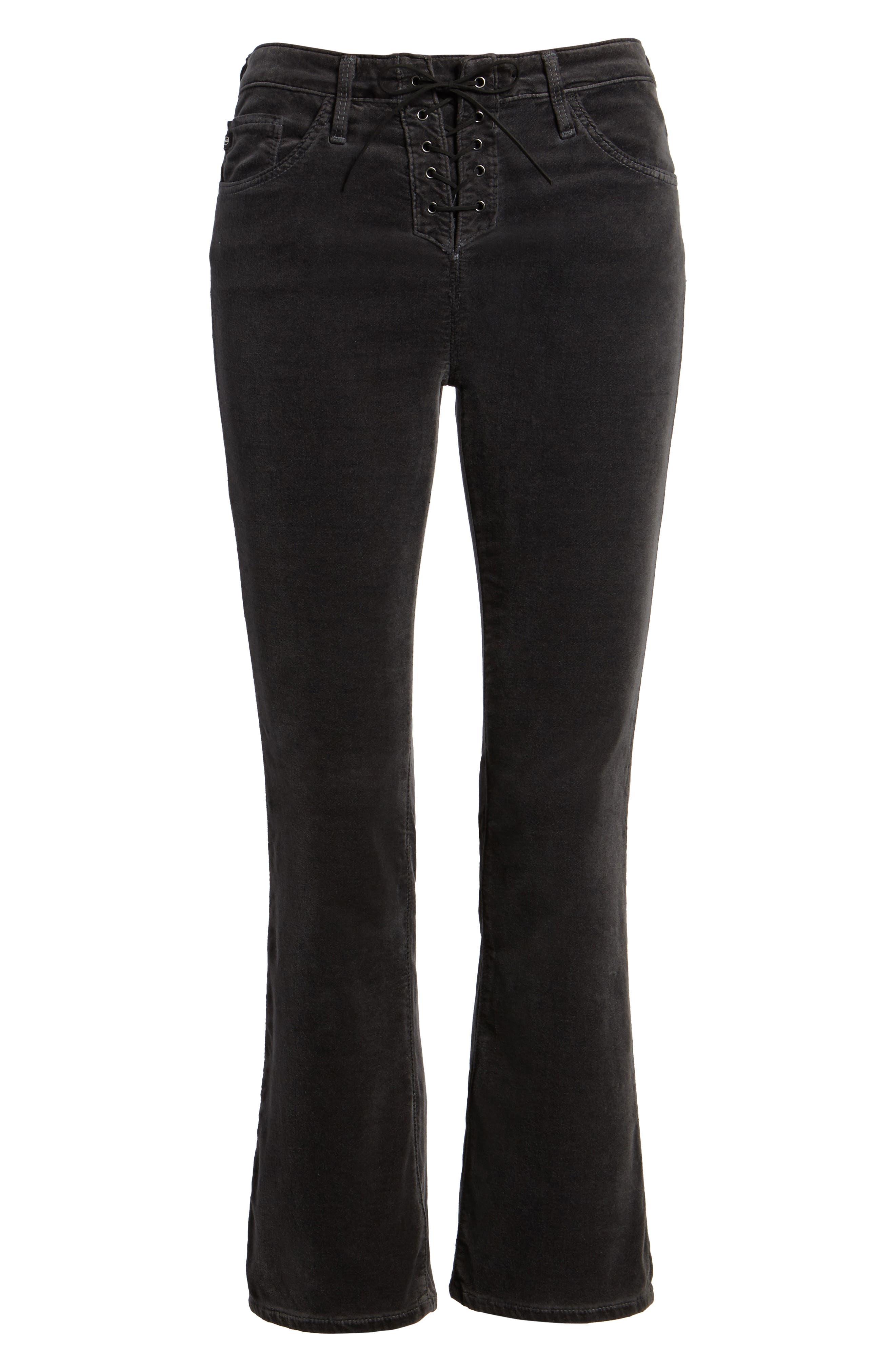 Jodi Lace-Up Crop Jeans,                             Alternate thumbnail 6, color,                             003