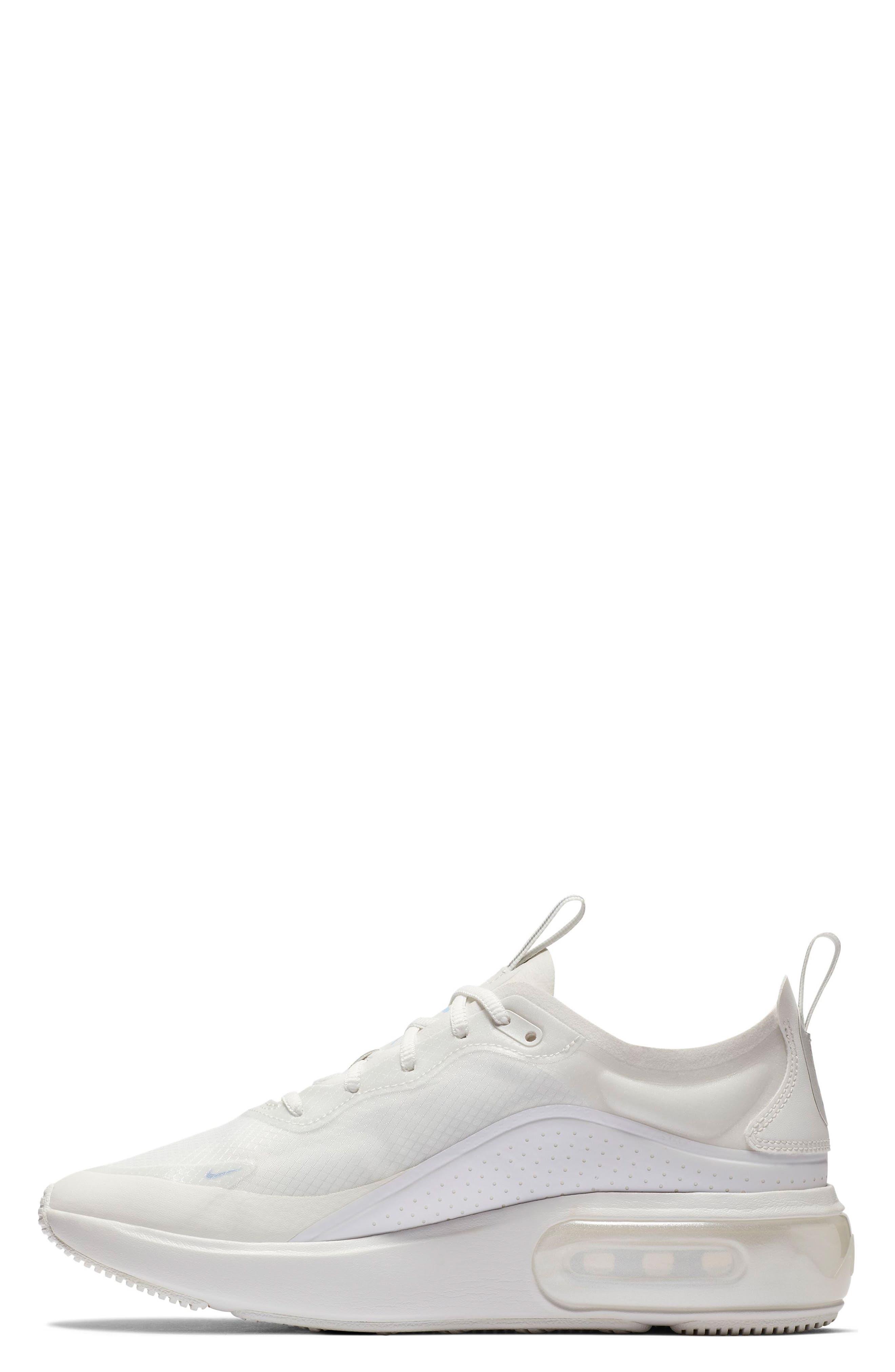 Air Max DIA SE Running Shoe,                             Alternate thumbnail 3, color,                             WHITE/ ALUMINUM/ WHITE