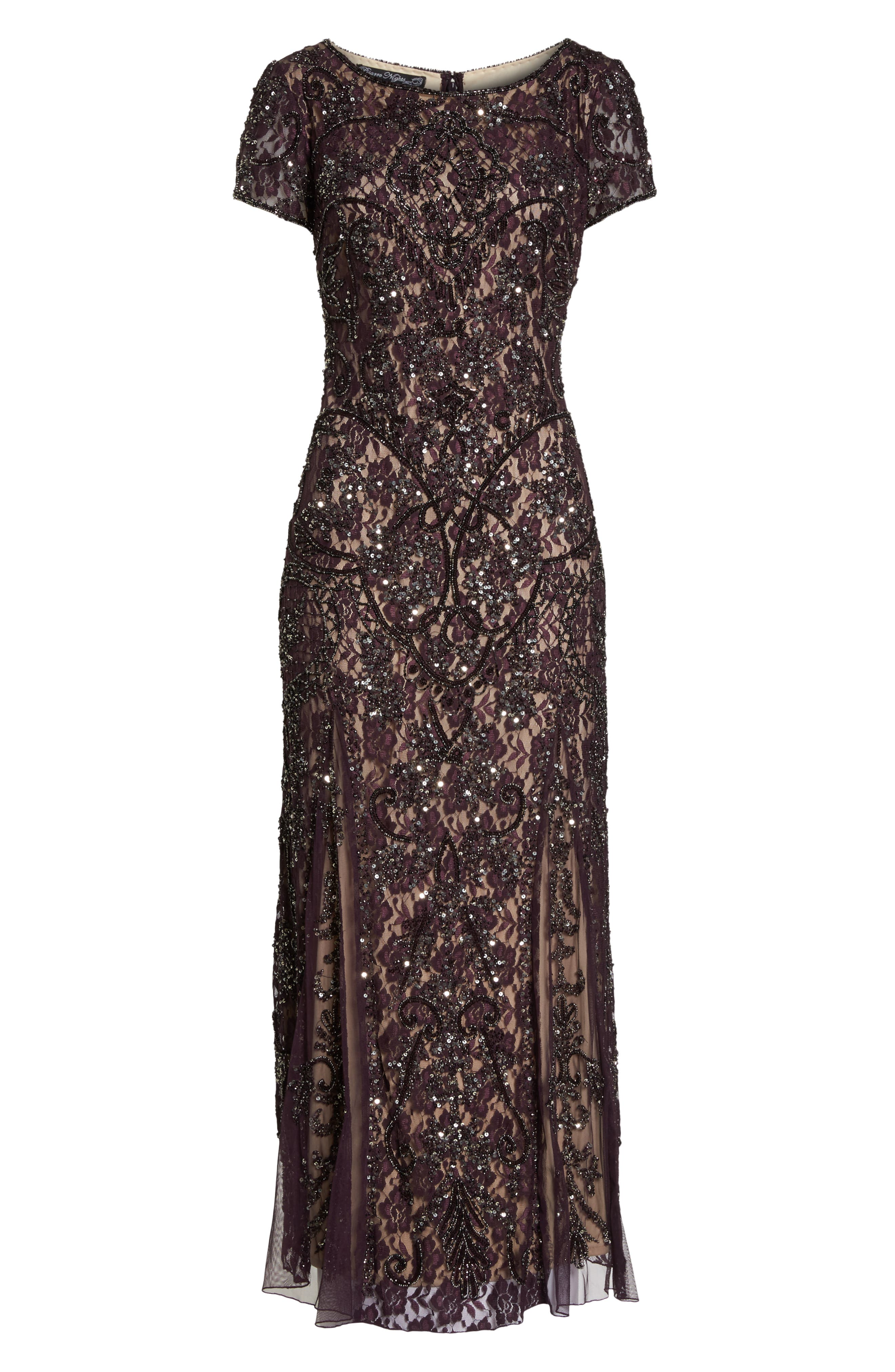 Embellished Lace Gown,                             Alternate thumbnail 6, color,                             502