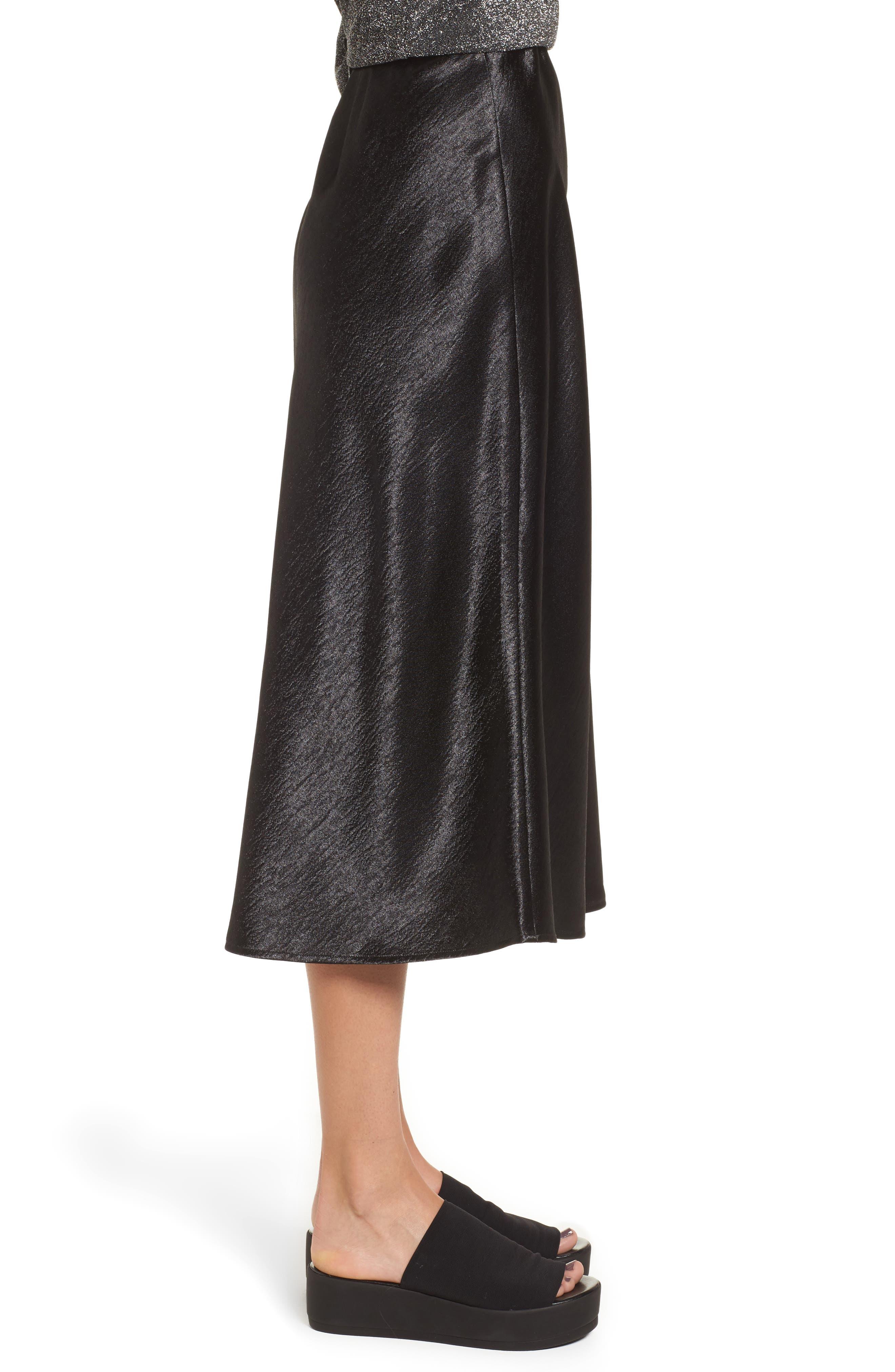 Satin Midi Skirt,                             Alternate thumbnail 5, color,