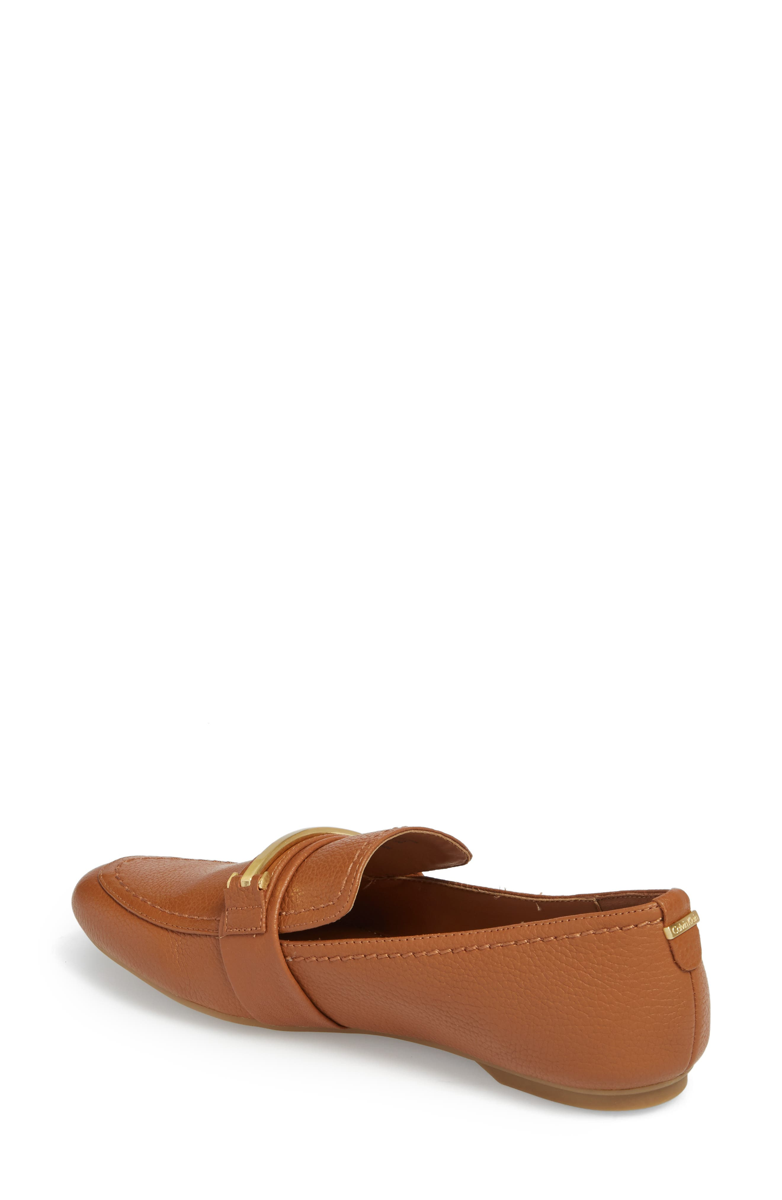 Orianna Loafer,                             Alternate thumbnail 2, color,                             COGNAC LEATHER
