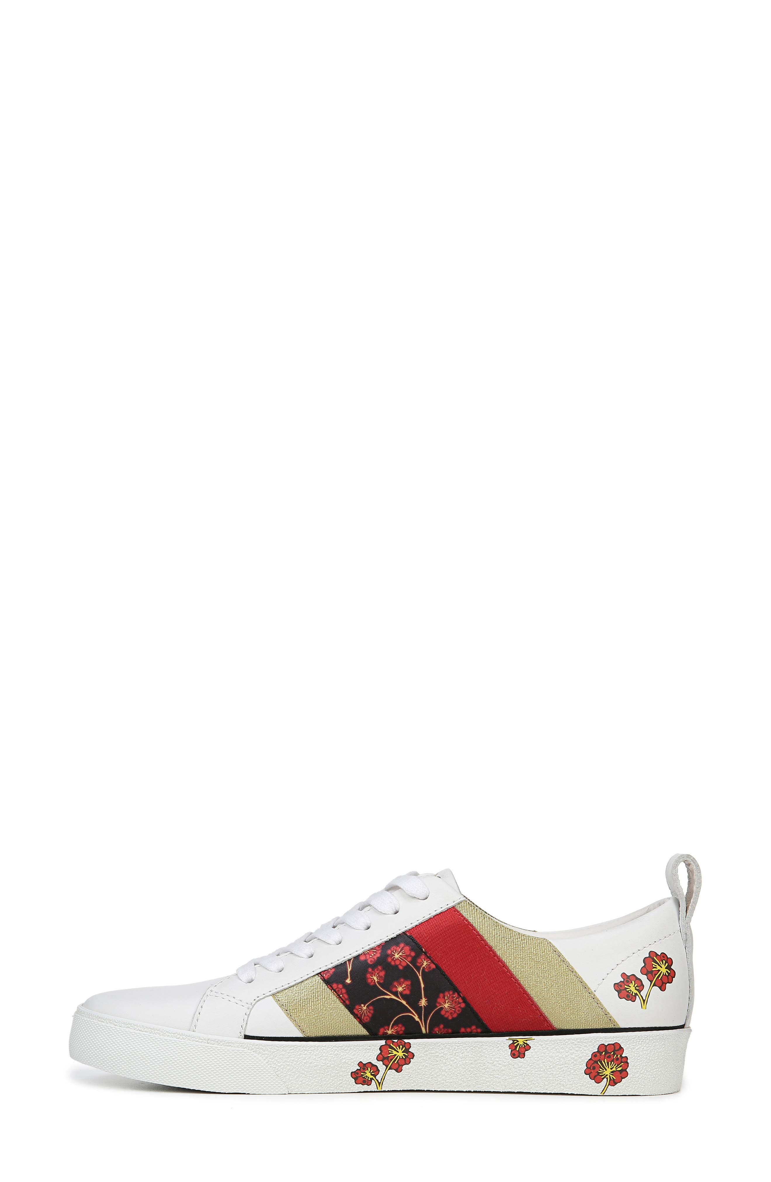 Tess Lace-Up Sneaker,                             Alternate thumbnail 8, color,                             WHITE/ RED