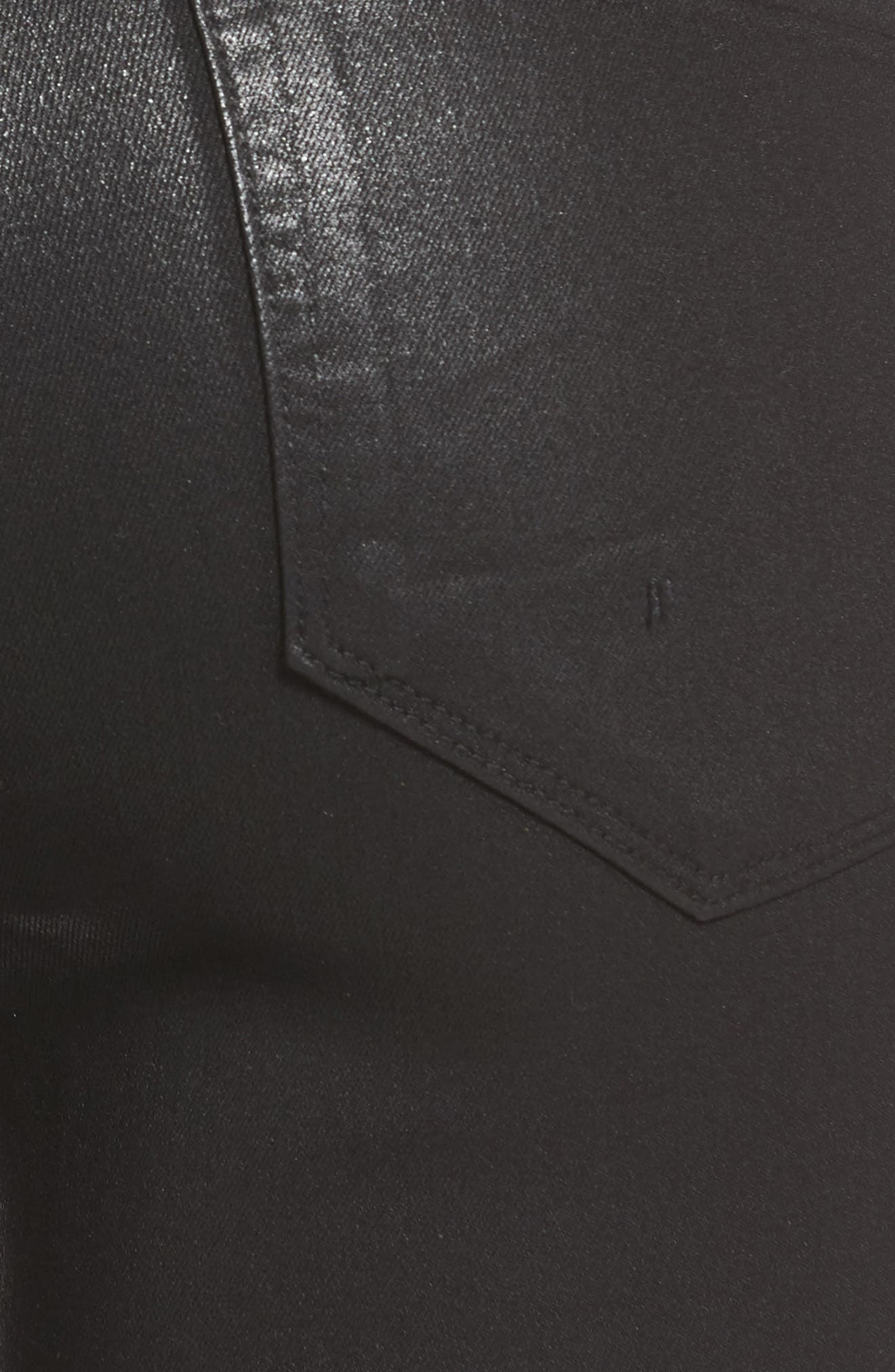PAIGE,                             Transcend - Hoxton High Waist Ankle Skinny Jeans,                             Alternate thumbnail 6, color,                             LUXE BLACK COATED