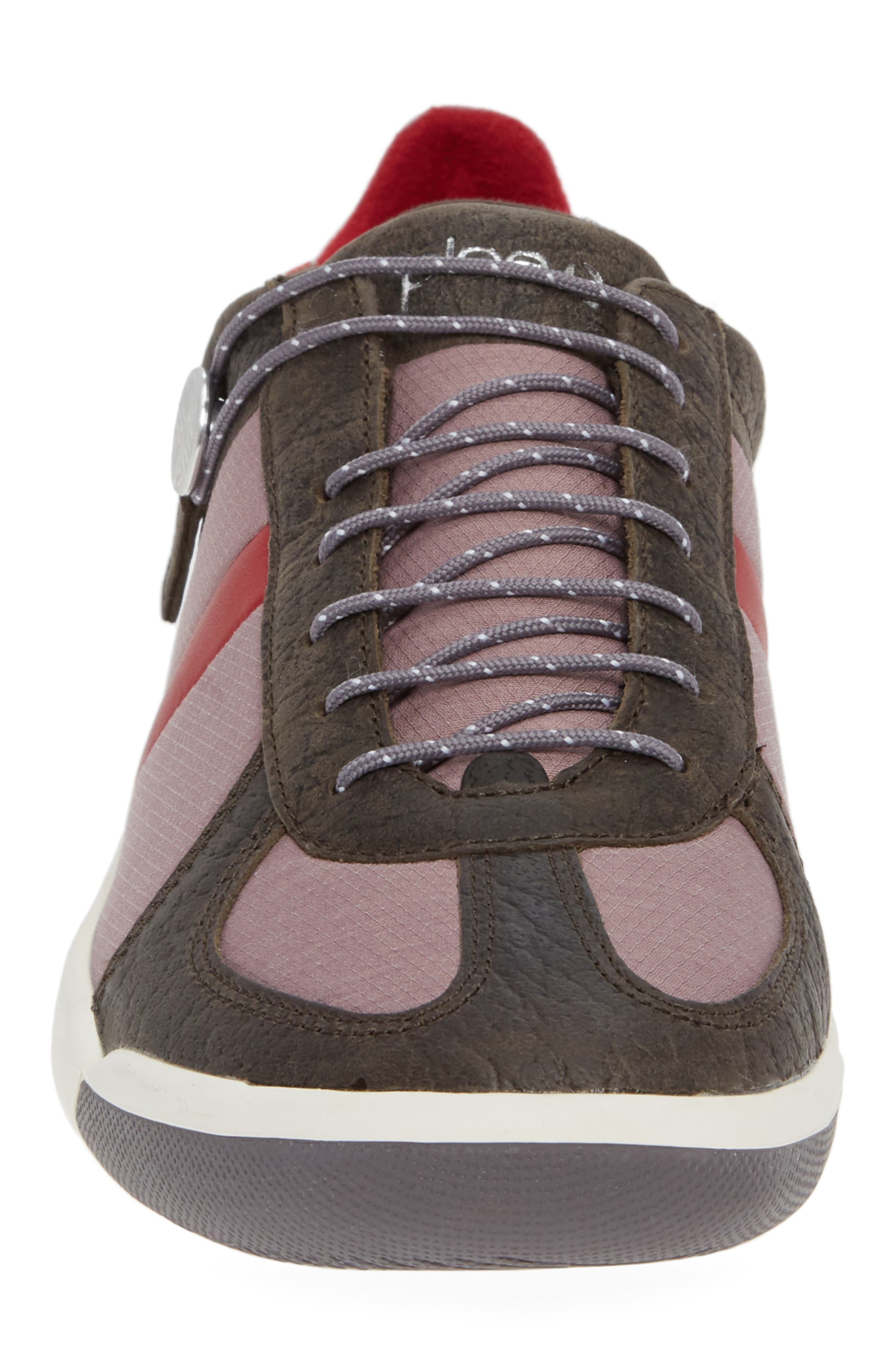 Butler Low-Top Sneaker,                             Alternate thumbnail 4, color,                             EMBER BROWN LEATHER