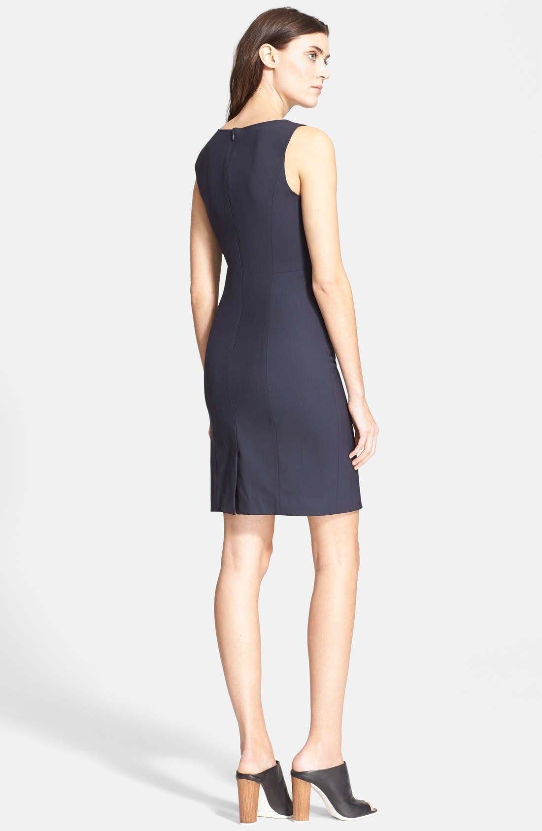 'Betty.2B' Stretch Wool Sheath Dress,                             Alternate thumbnail 9, color,