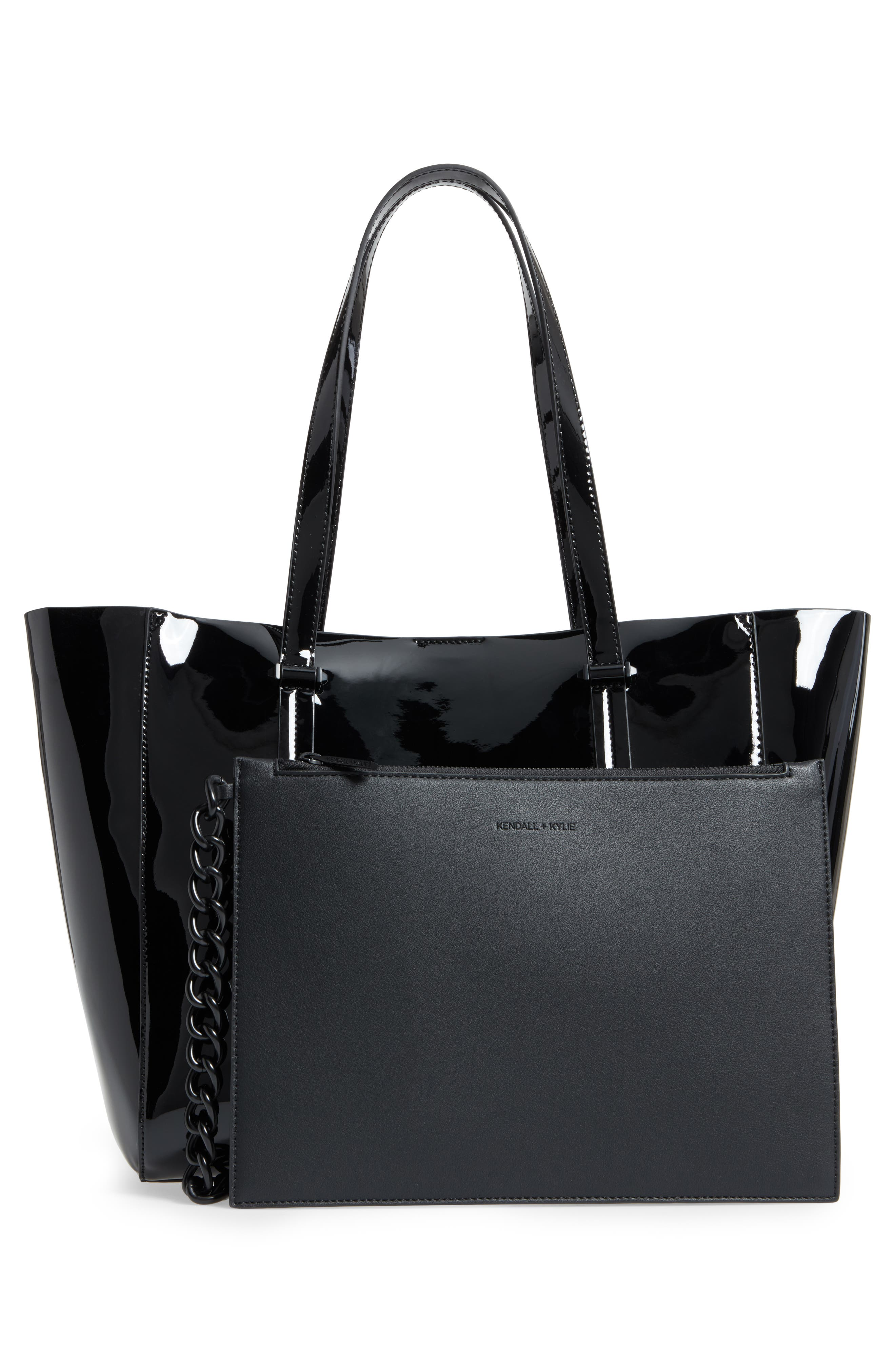 Izzy Faux Leather Tote,                             Alternate thumbnail 5, color,