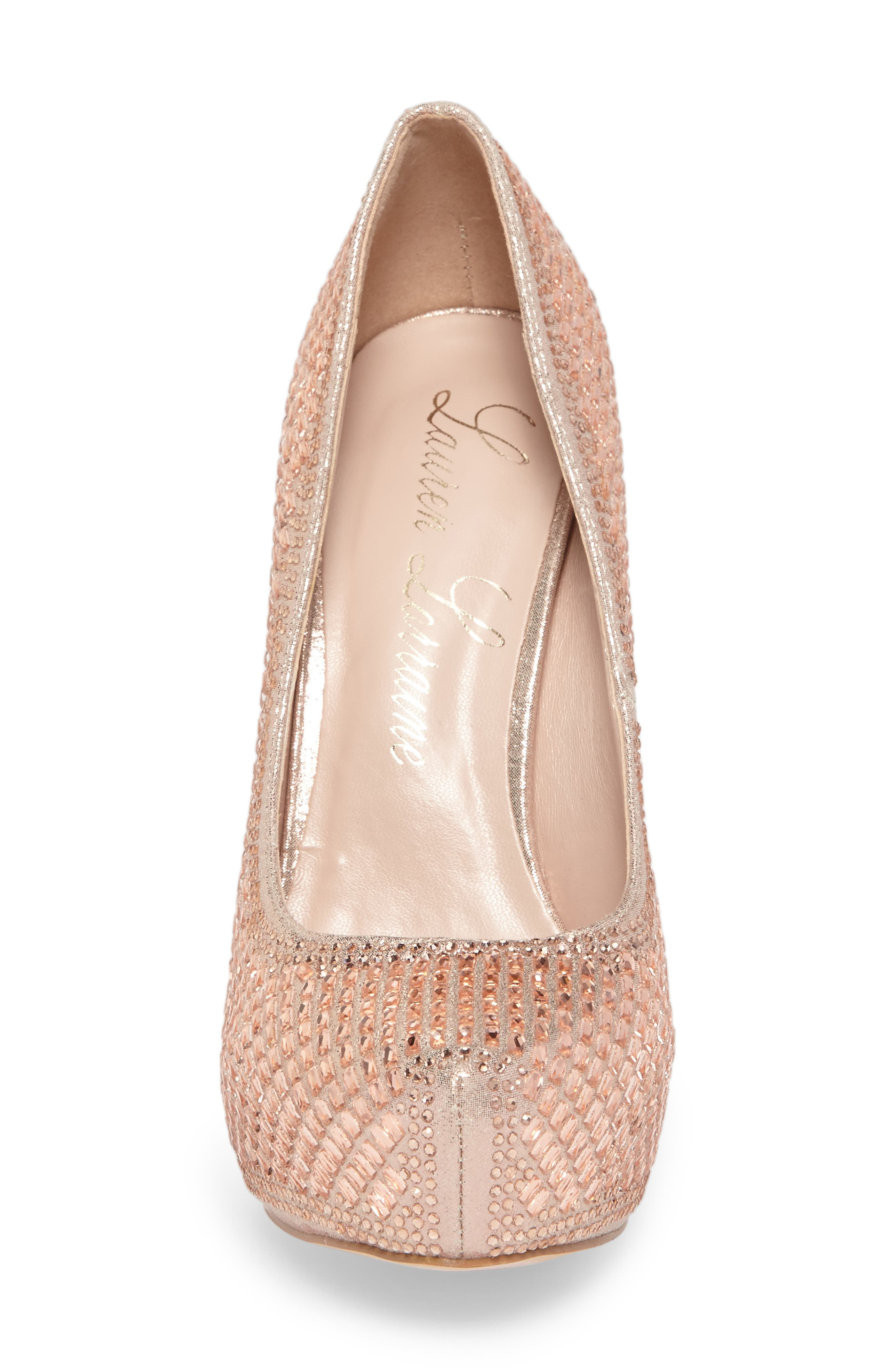 Vanna 5 Platform Pump,                             Alternate thumbnail 4, color,                             ROSE GOLD