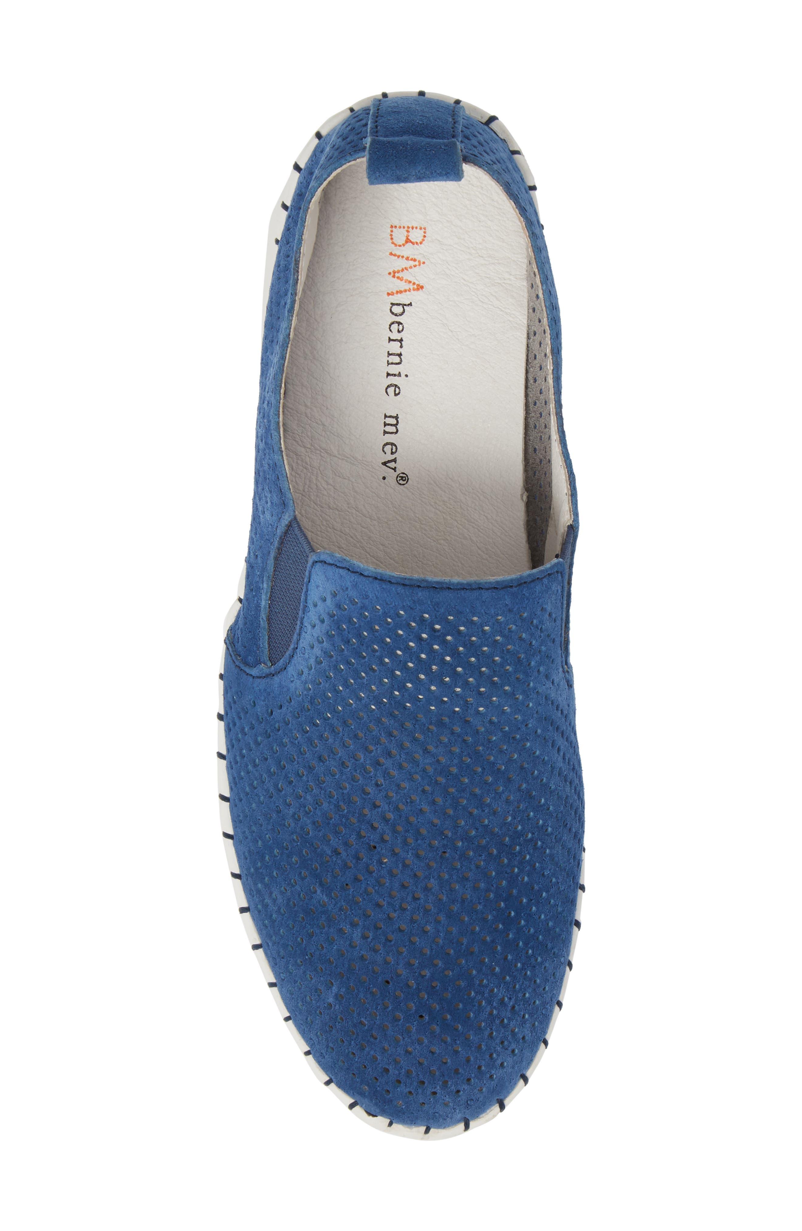 Slip-On Sneaker,                             Alternate thumbnail 5, color,                             BLUE LEATHER