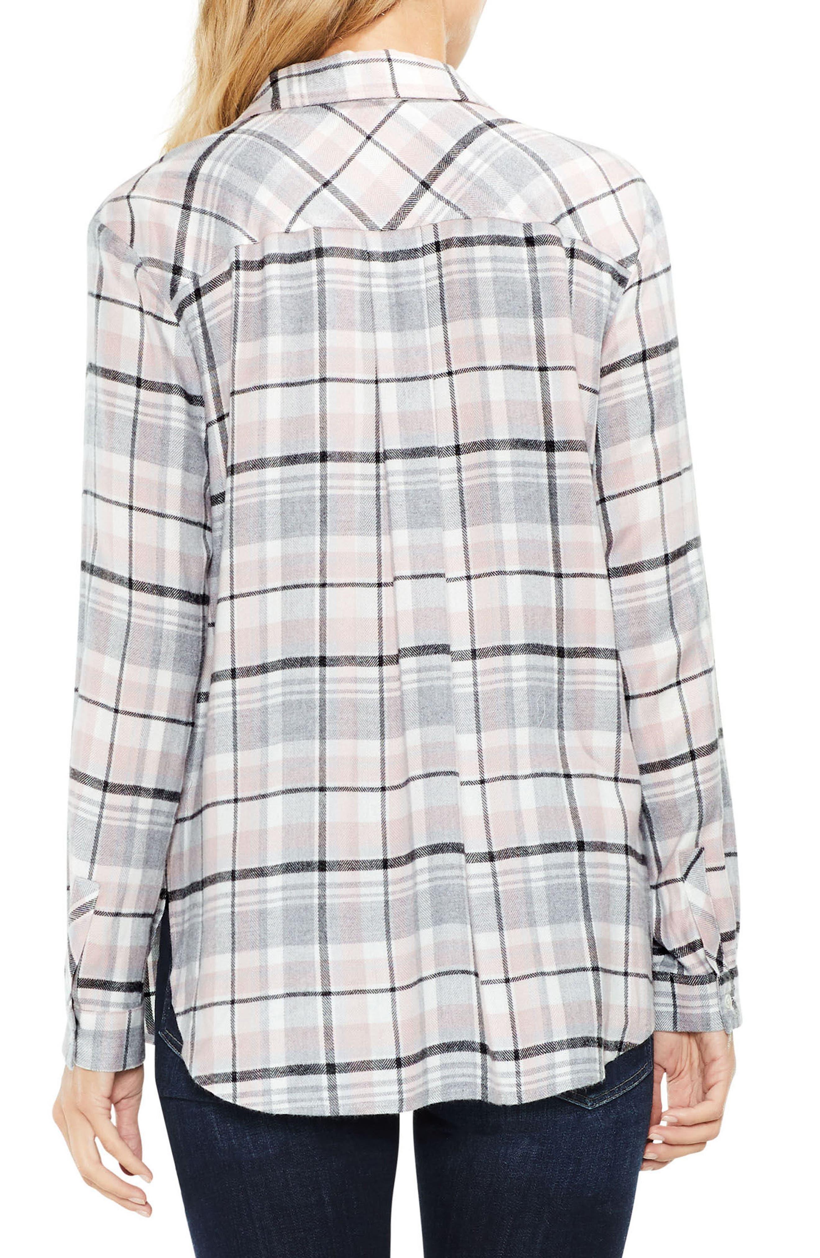Split Sleeve Rustic Plaid Top,                             Alternate thumbnail 2, color,                             597