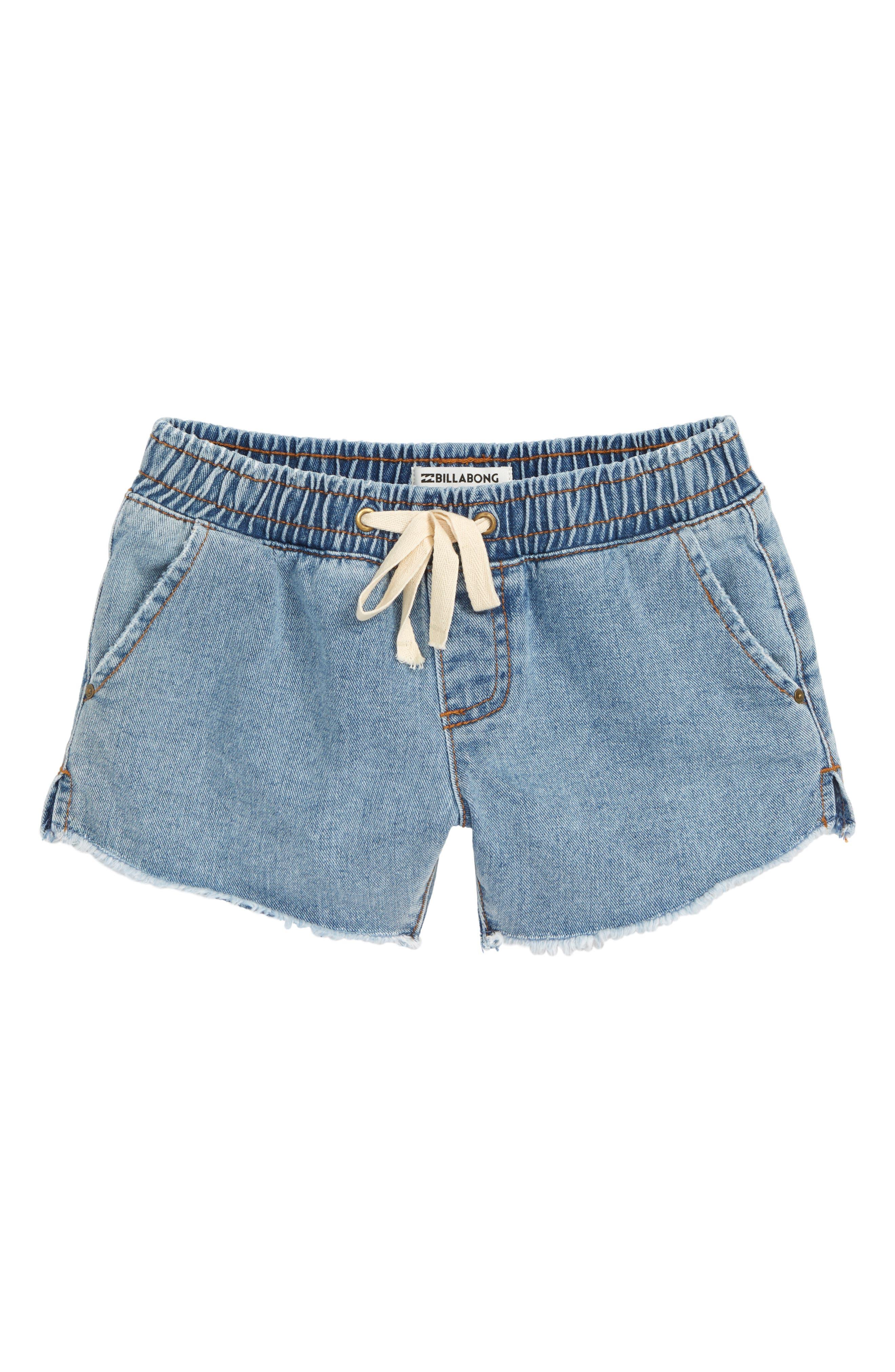 Wild Sun Cutoff Shorts, Main, color, INDIGO
