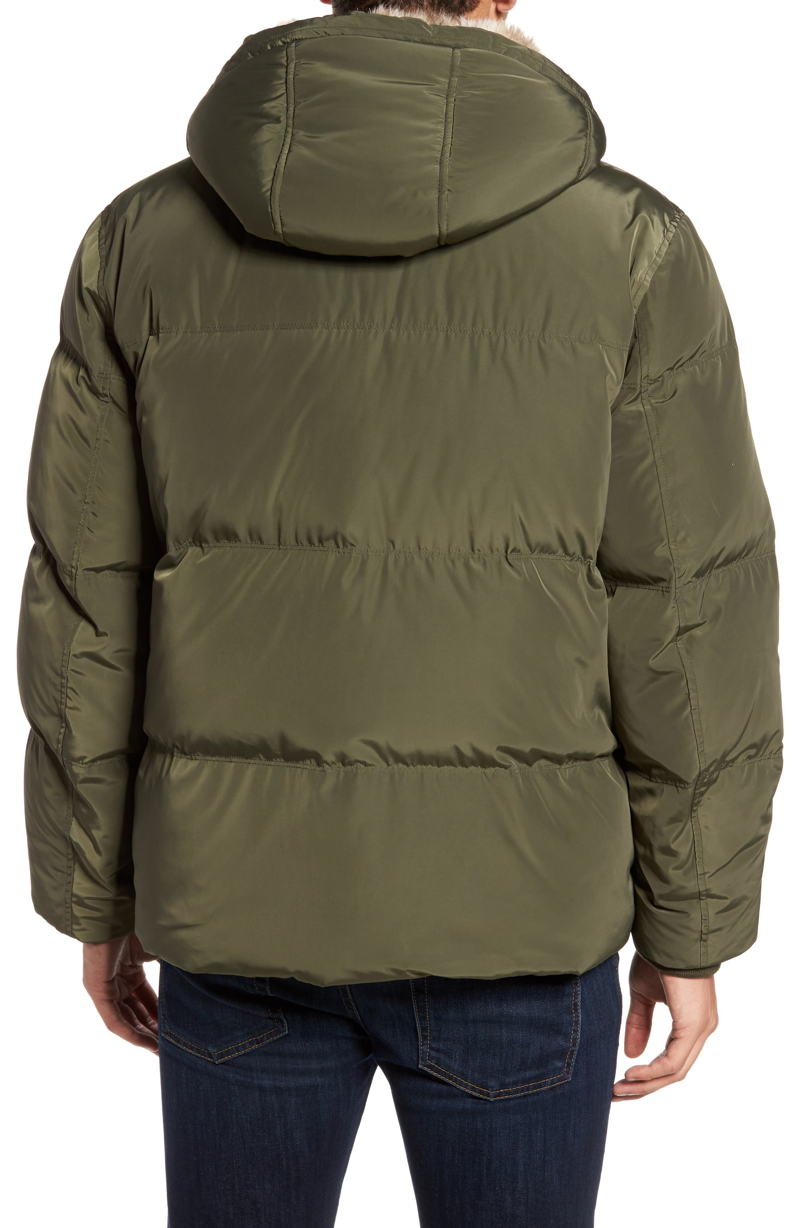 Athlone Faux Fur Down Jacket,                             Alternate thumbnail 2, color,                             313