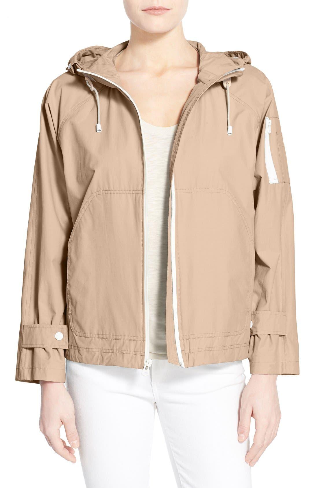 Sporty Hooded Jacket,                             Main thumbnail 1, color,                             CANYON ROSE