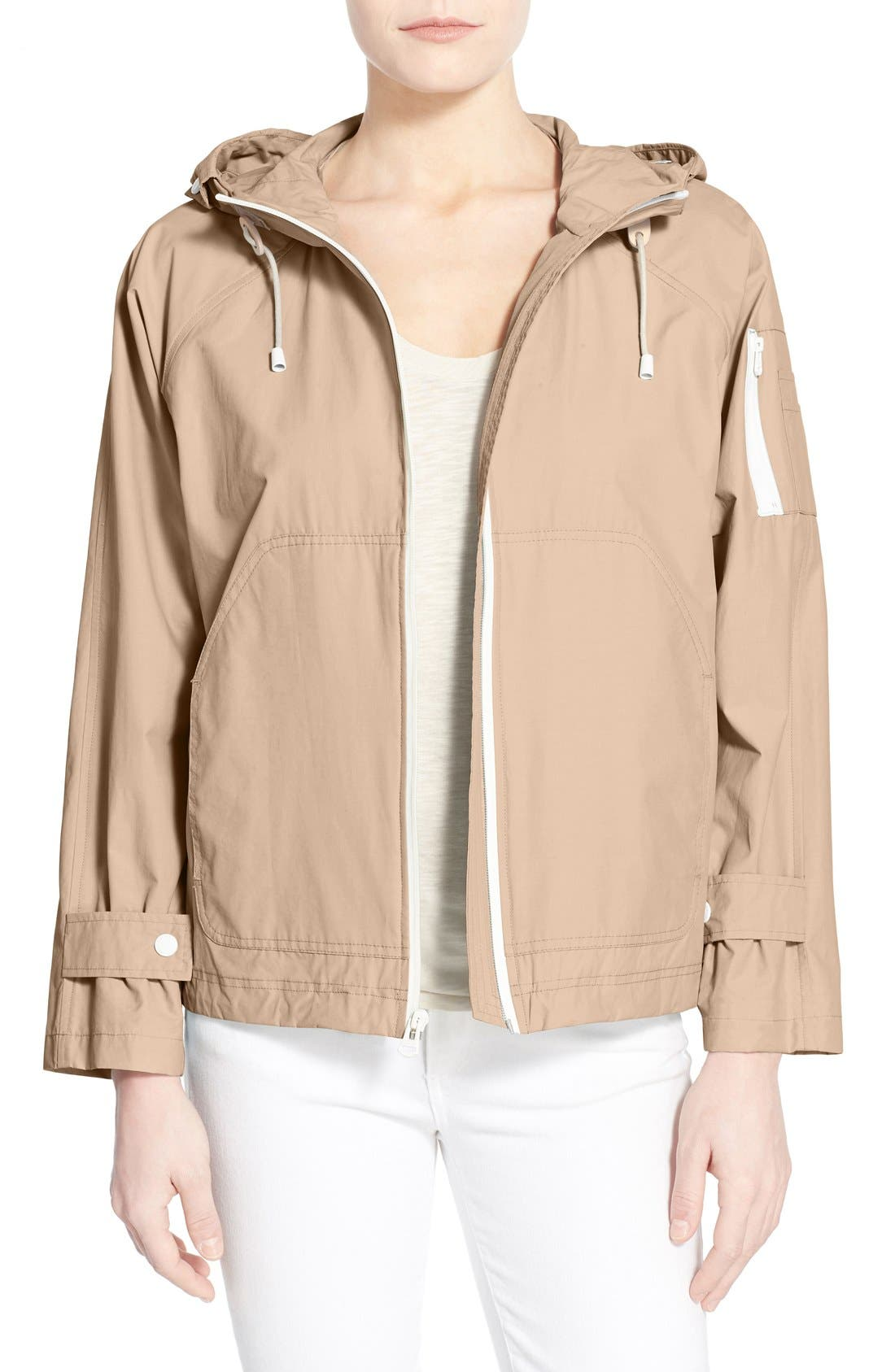 Sporty Hooded Jacket,                         Main,                         color, CANYON ROSE