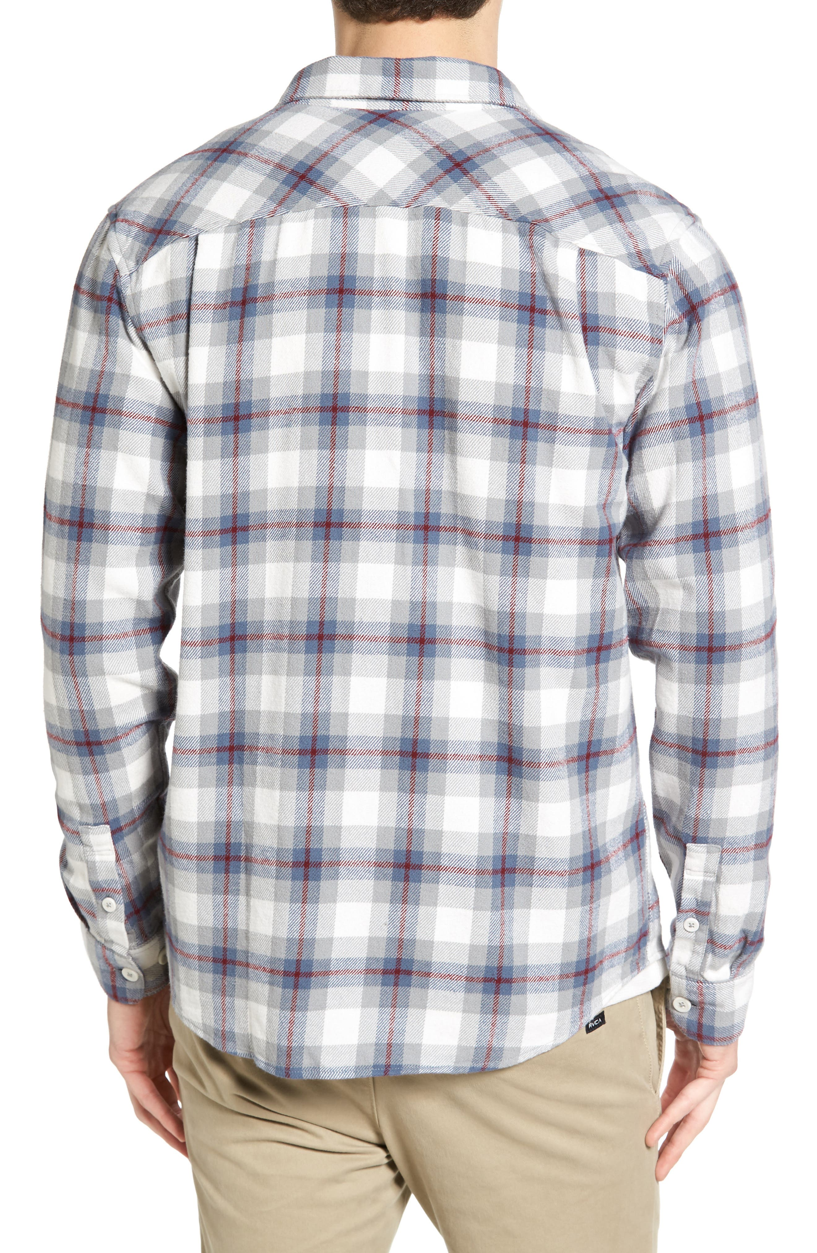 'That'll Work' Trim Fit Plaid Flannel Shirt,                             Alternate thumbnail 9, color,