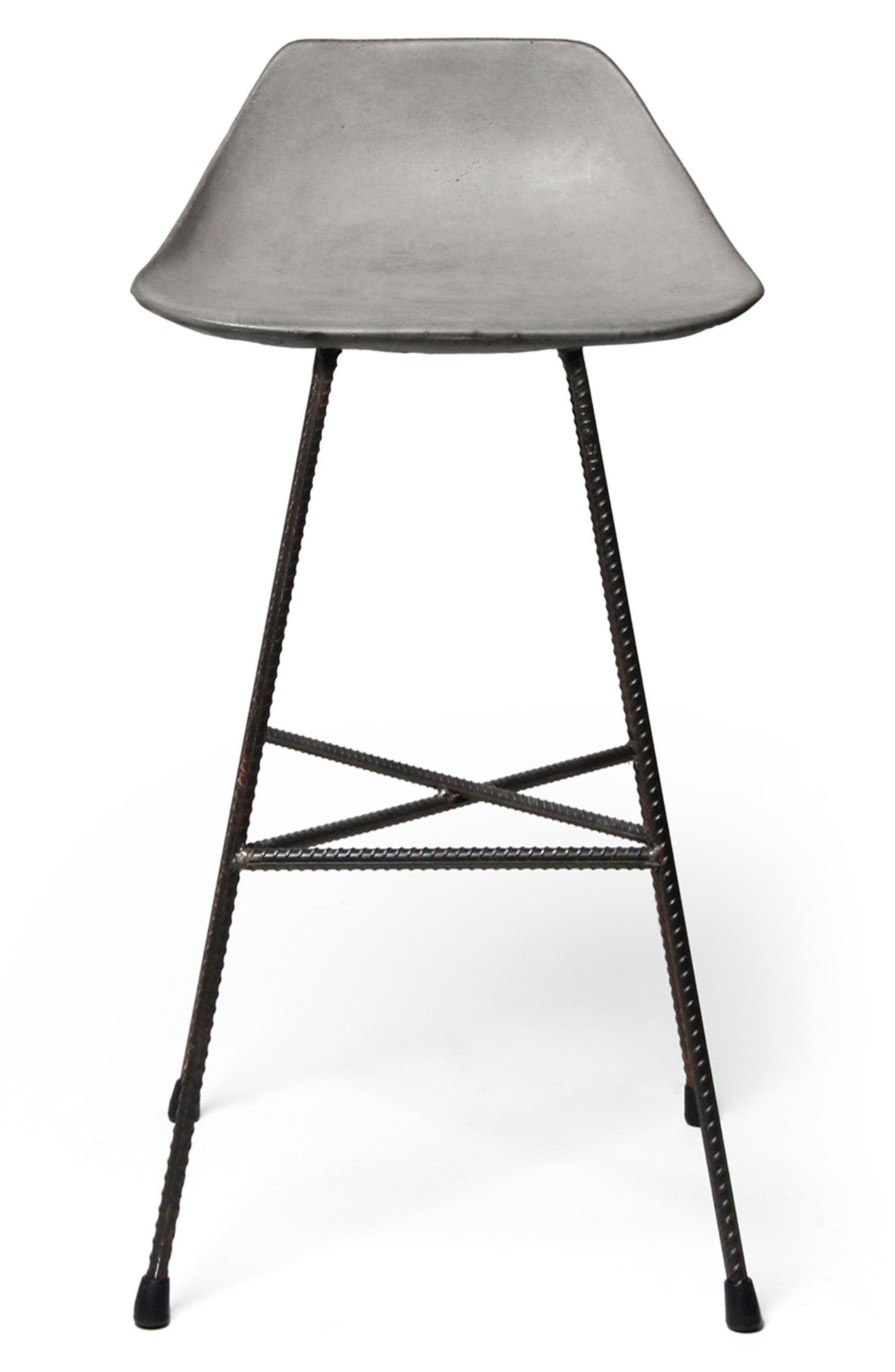Lyon Béton Hauteville Counter Chair,                             Main thumbnail 1, color,                             CEMENT