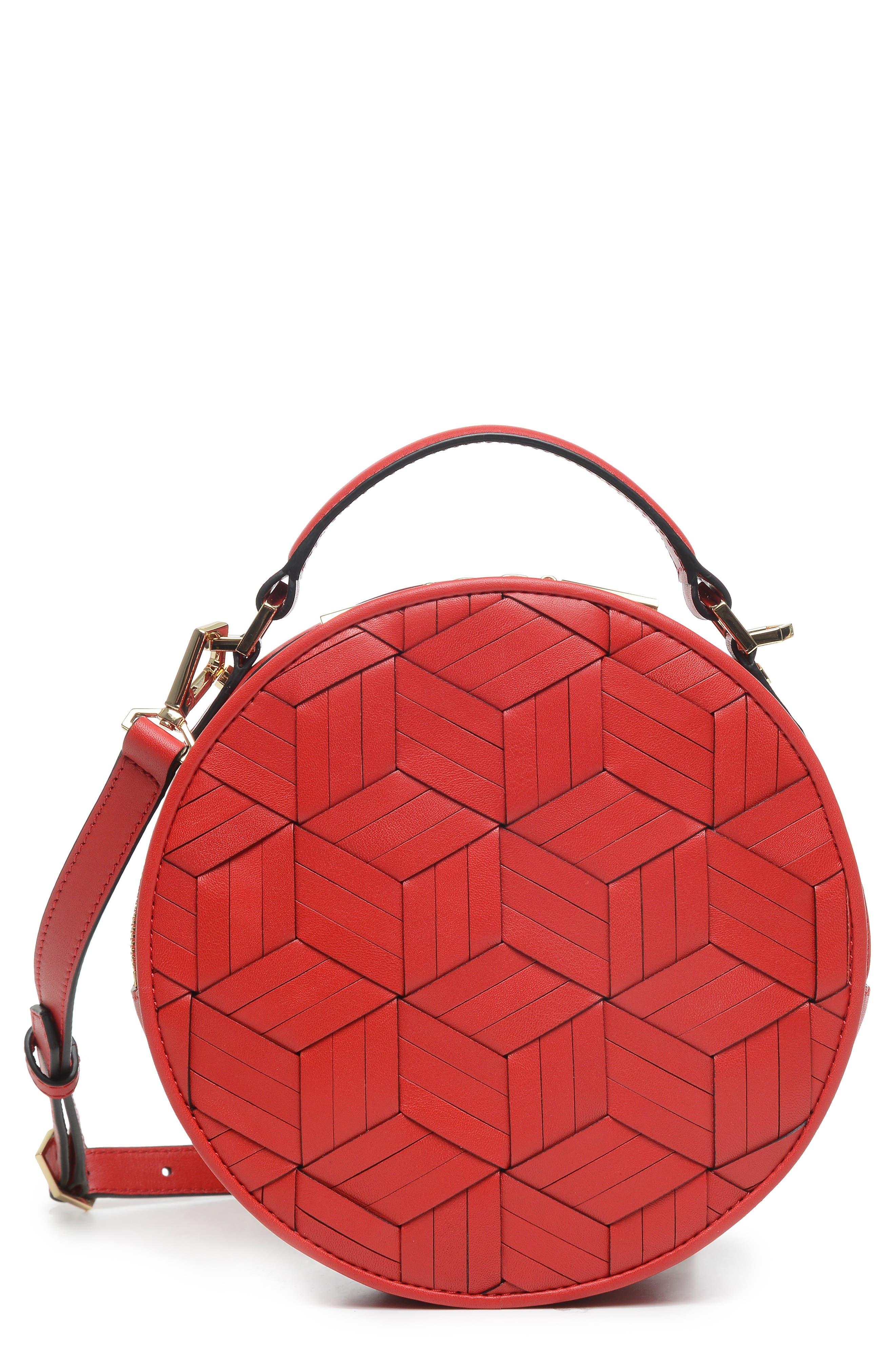 WELDEN Meridian Leather Crossbody Bag - Red in Dark Red