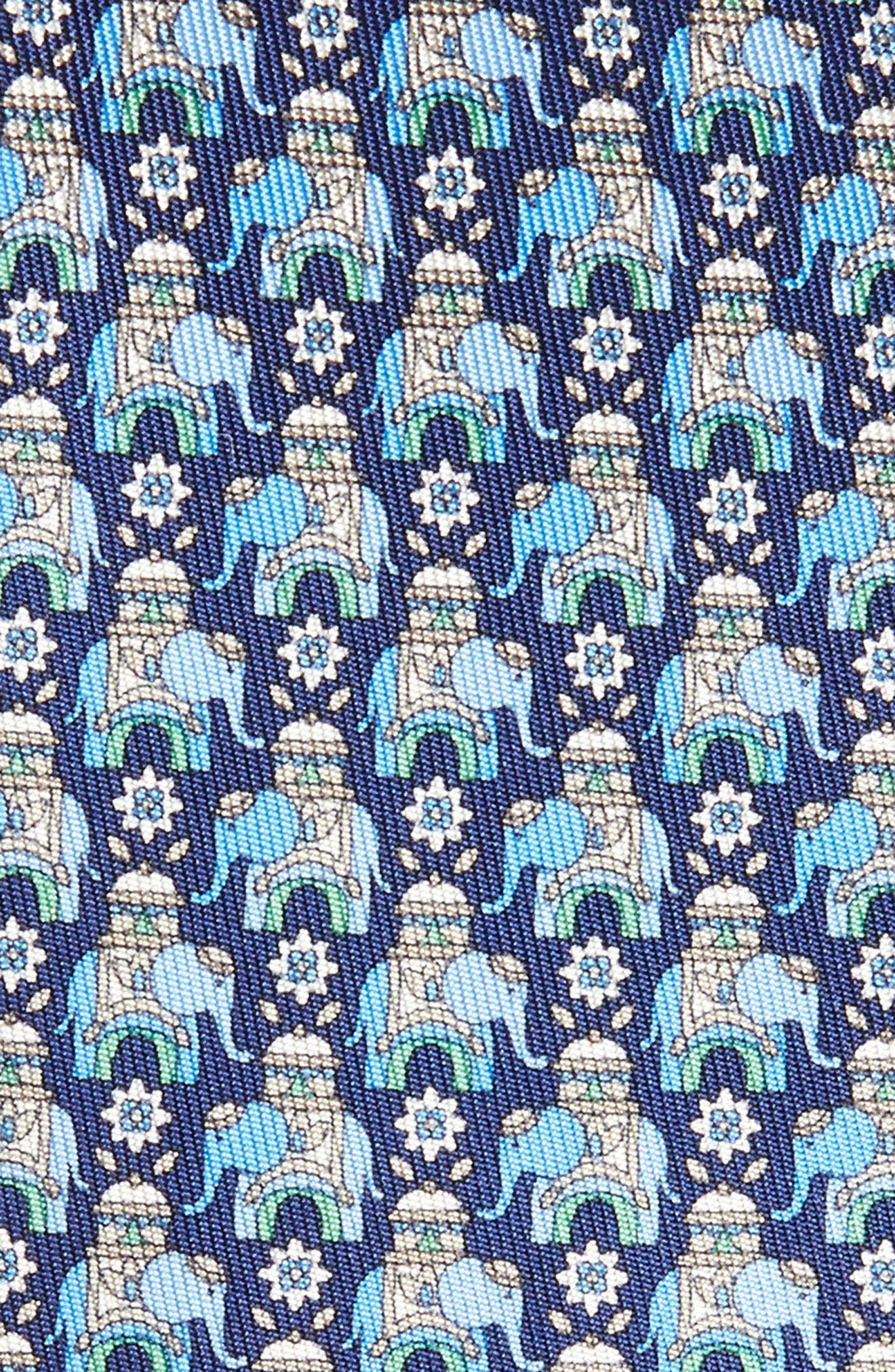 Elephant Print Silk Tie,                             Alternate thumbnail 2, color,                             492