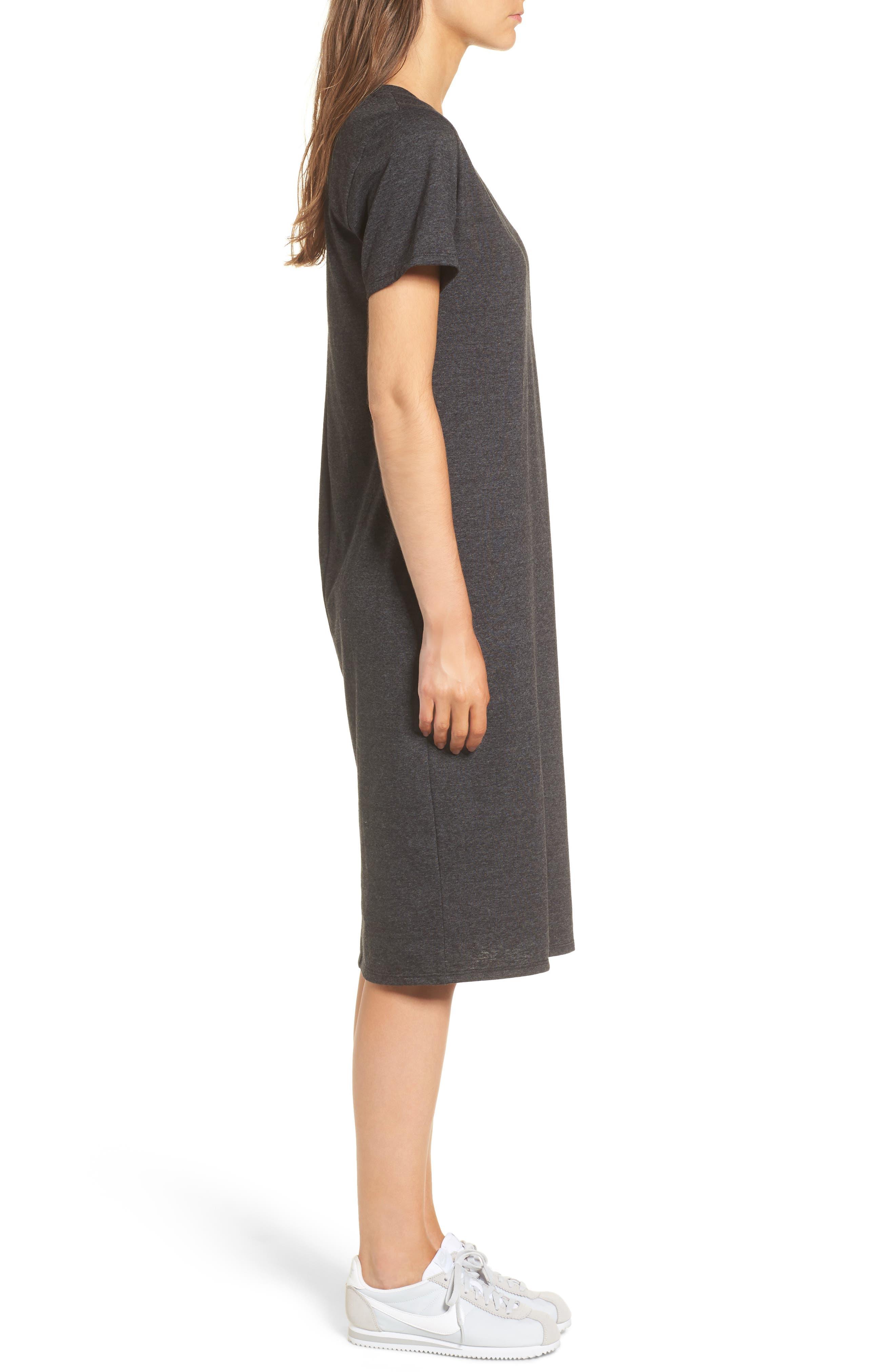 Knee Length T-Shirt Dress,                             Alternate thumbnail 3, color,                             034
