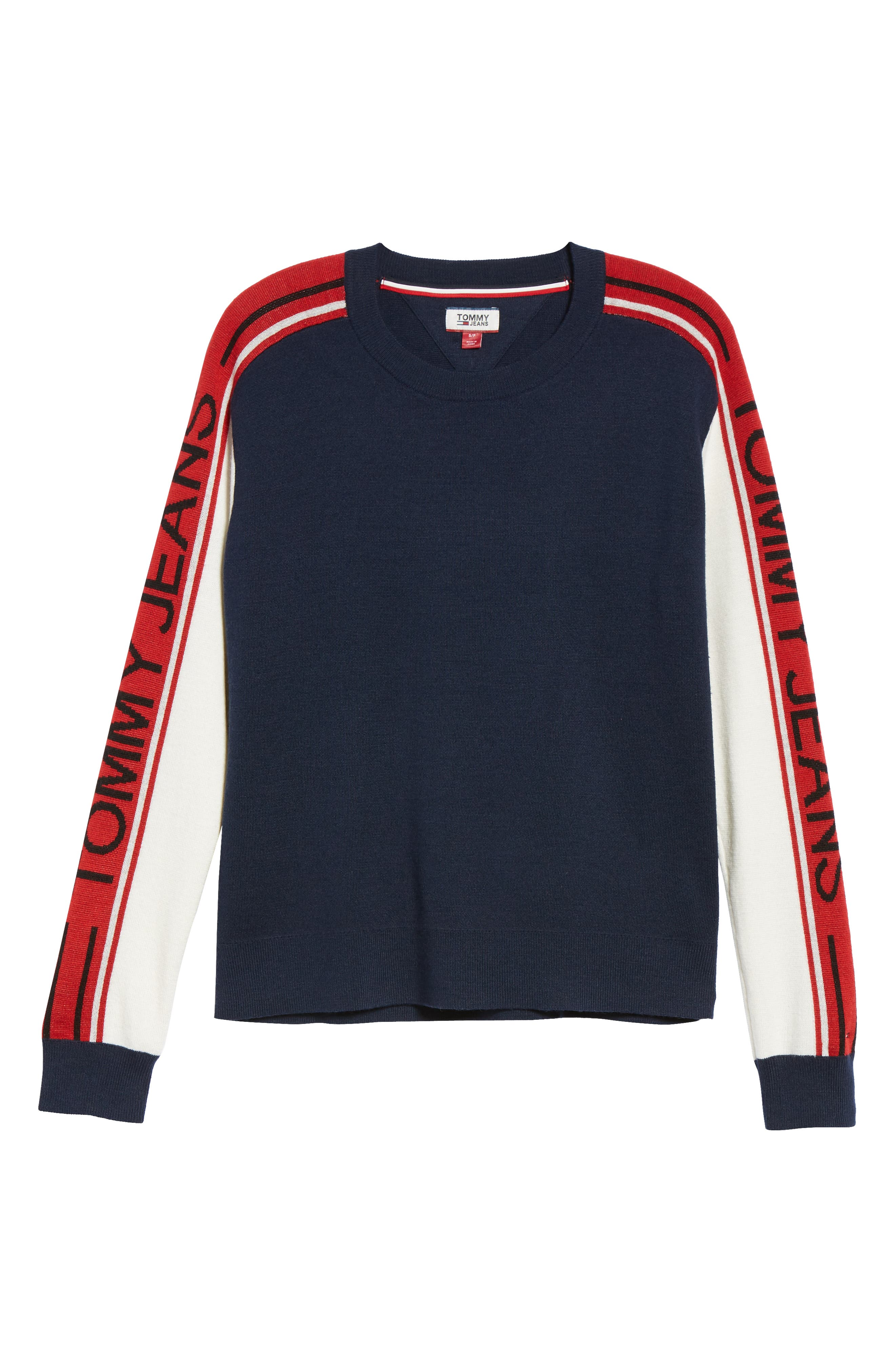 TJW Colorblock Sweater,                             Alternate thumbnail 6, color,                             BLUE