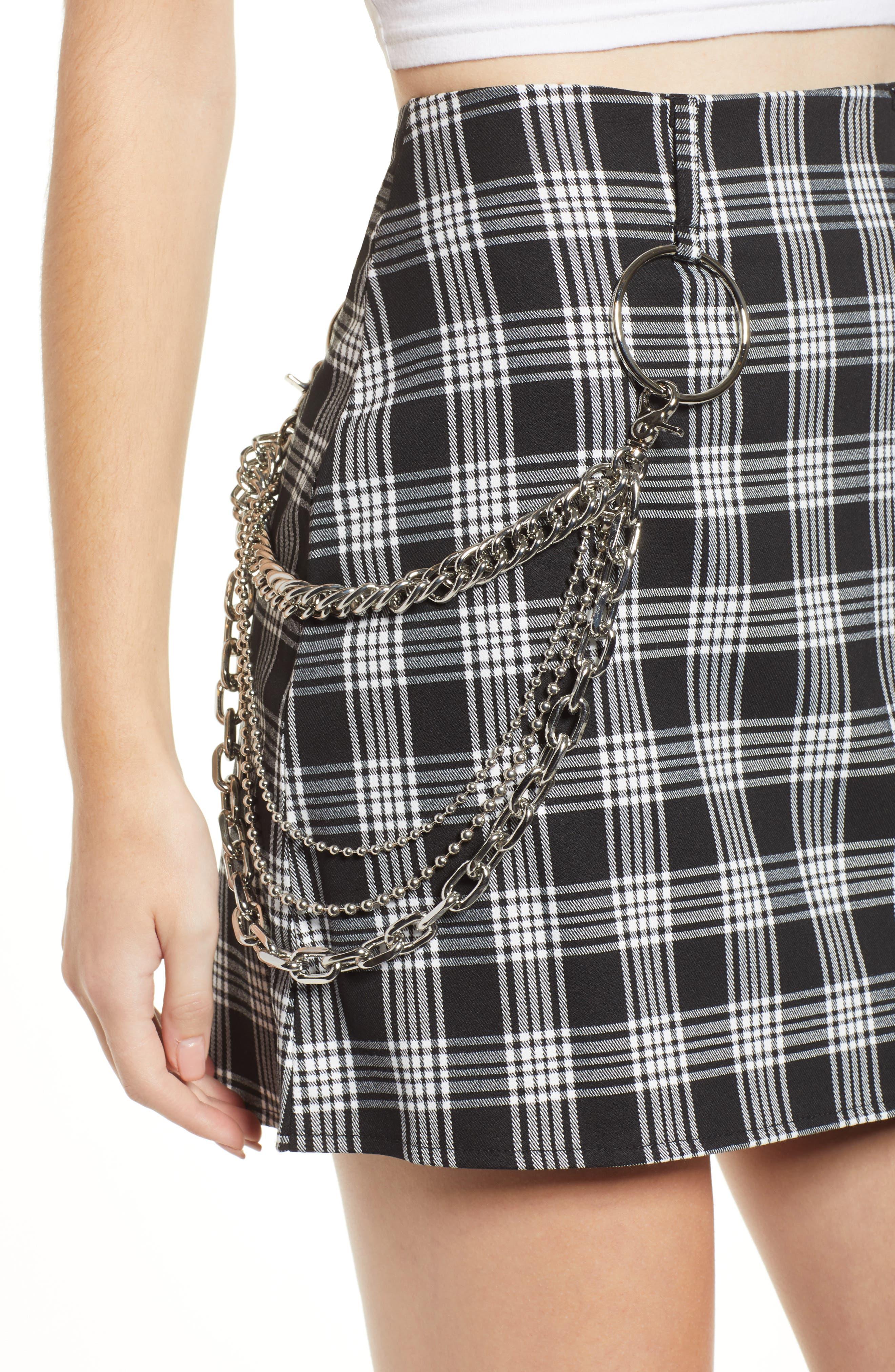 Madison Skirt,                             Alternate thumbnail 4, color,                             BLACK