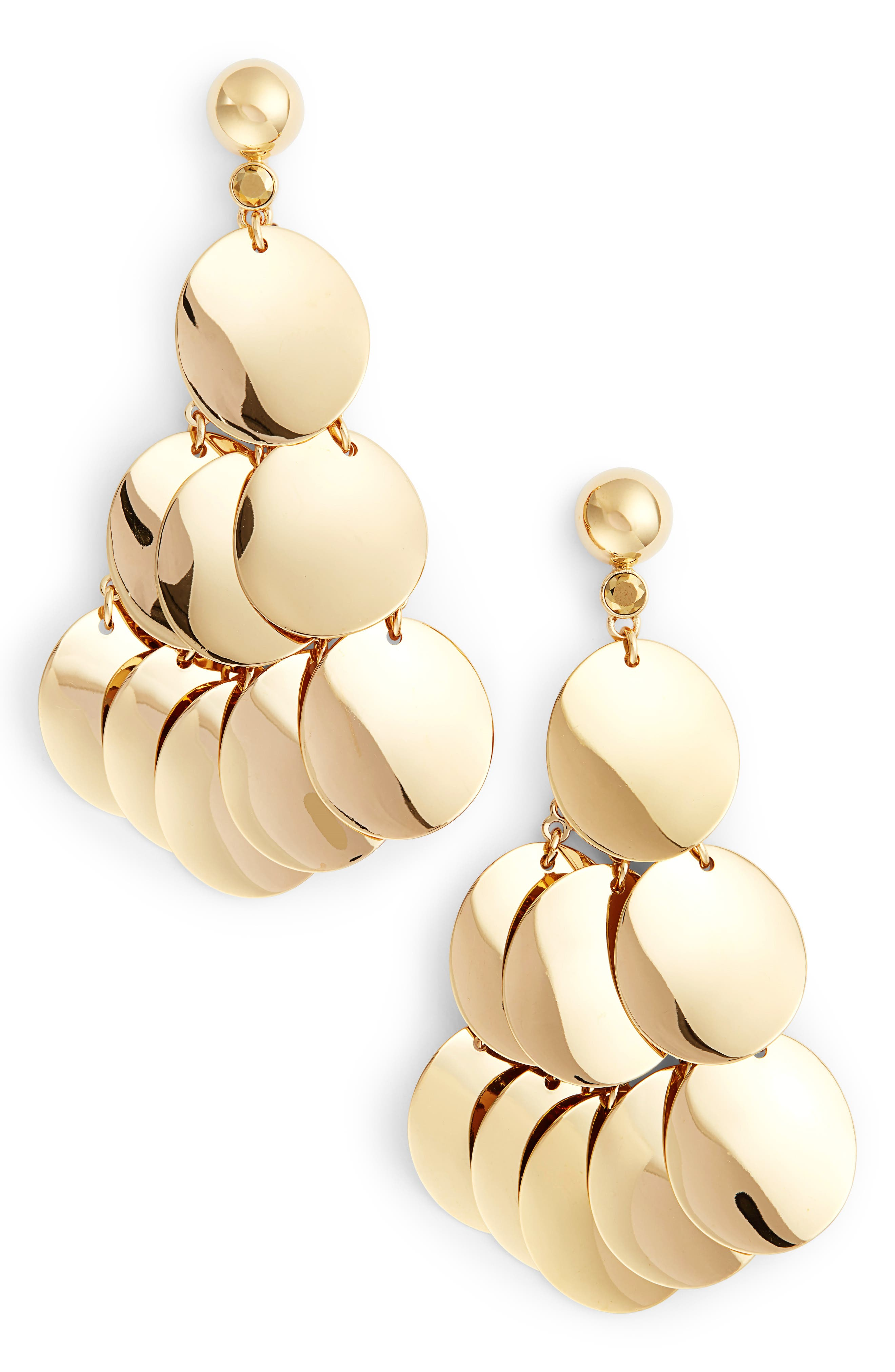 gold standard statement earrings,                             Main thumbnail 1, color,                             711