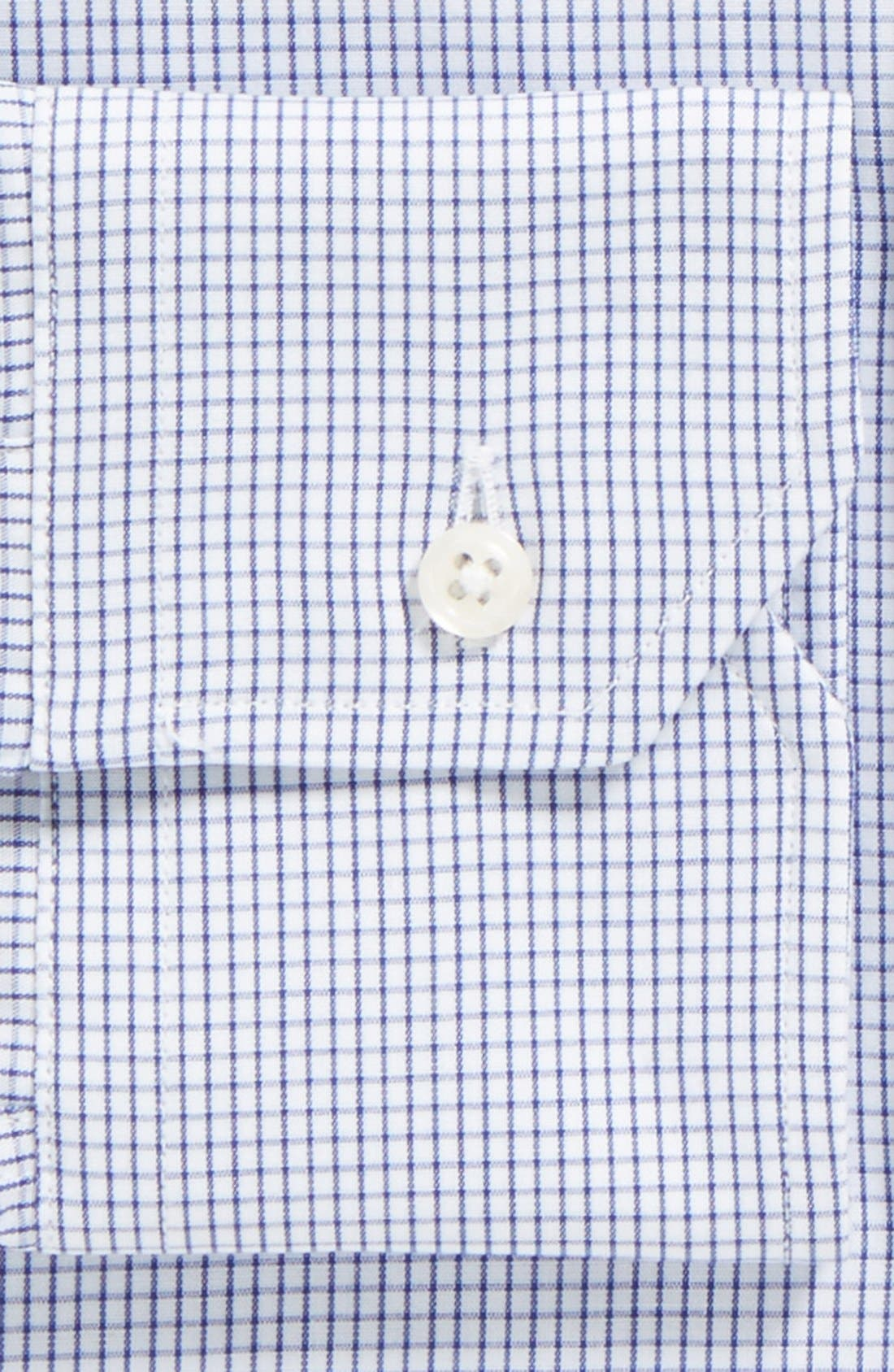 Tailored Fit Gingham Dress Shirt,                             Alternate thumbnail 2, color,                             NAVY