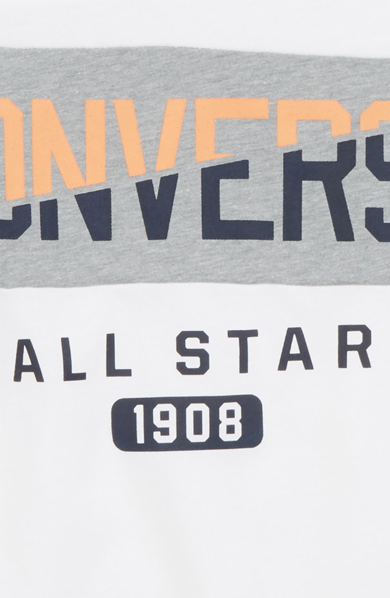 Spliced Graphic Raglan T-Shirt,                             Alternate thumbnail 2, color,                             100