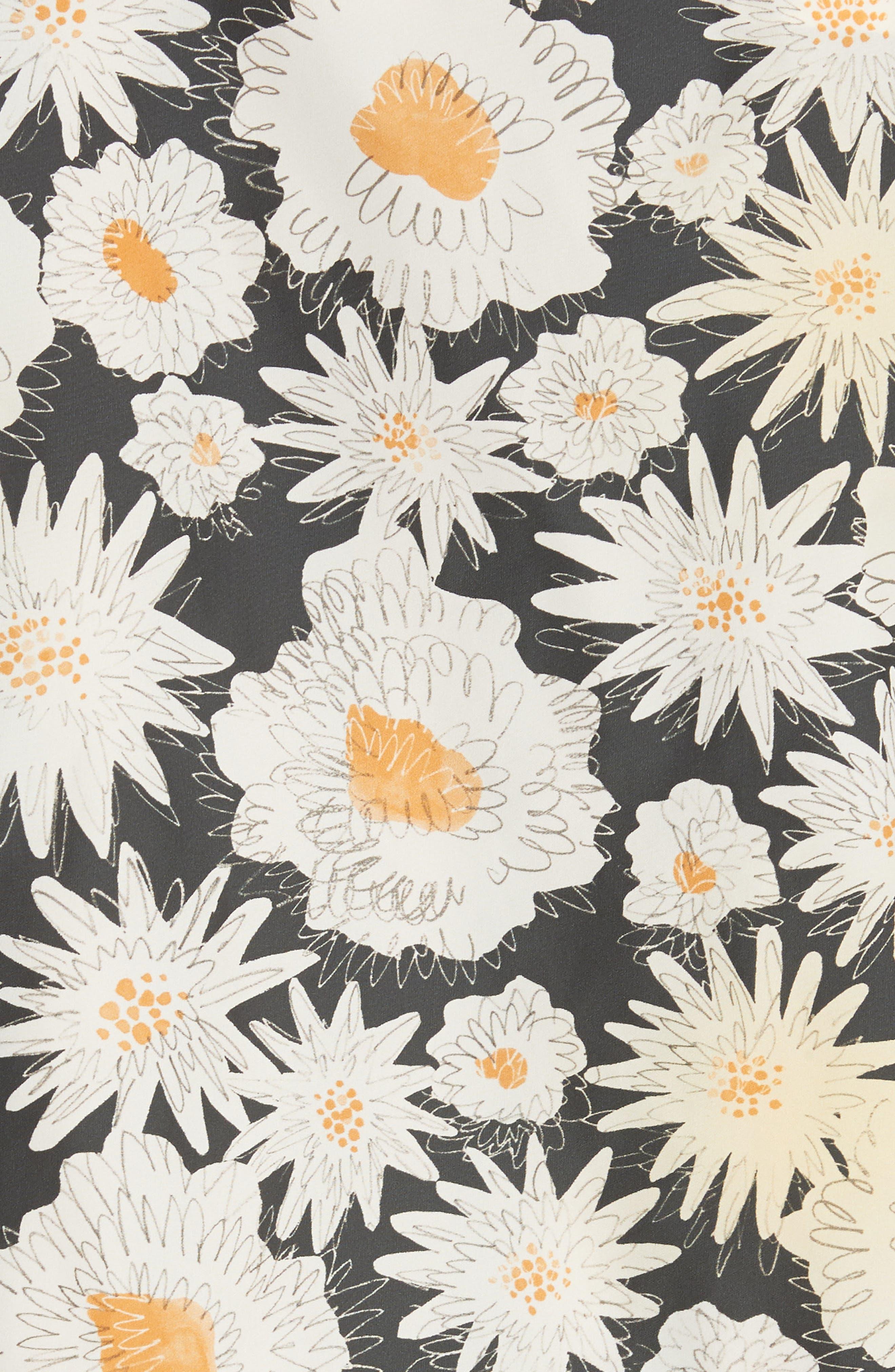 Fullerton Floral Print Windbreaker,                             Alternate thumbnail 6, color,                             001