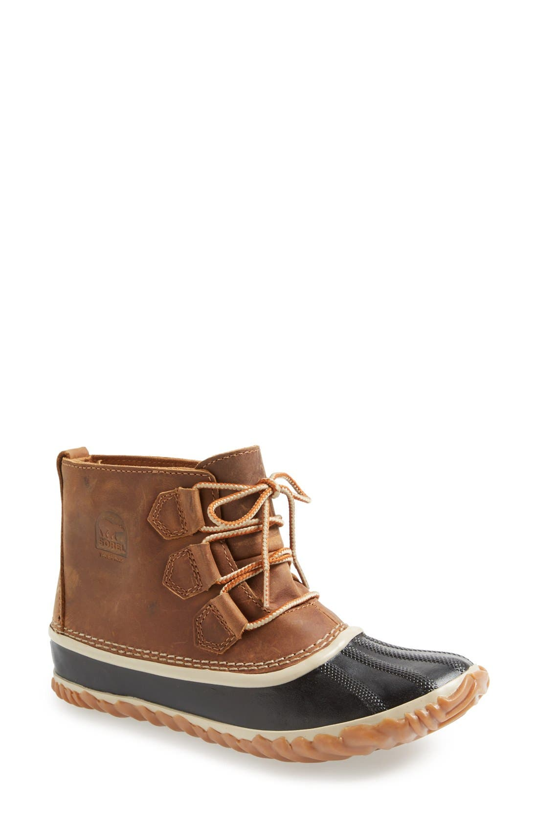'Out N About' Leather Boot,                             Main thumbnail 4, color,