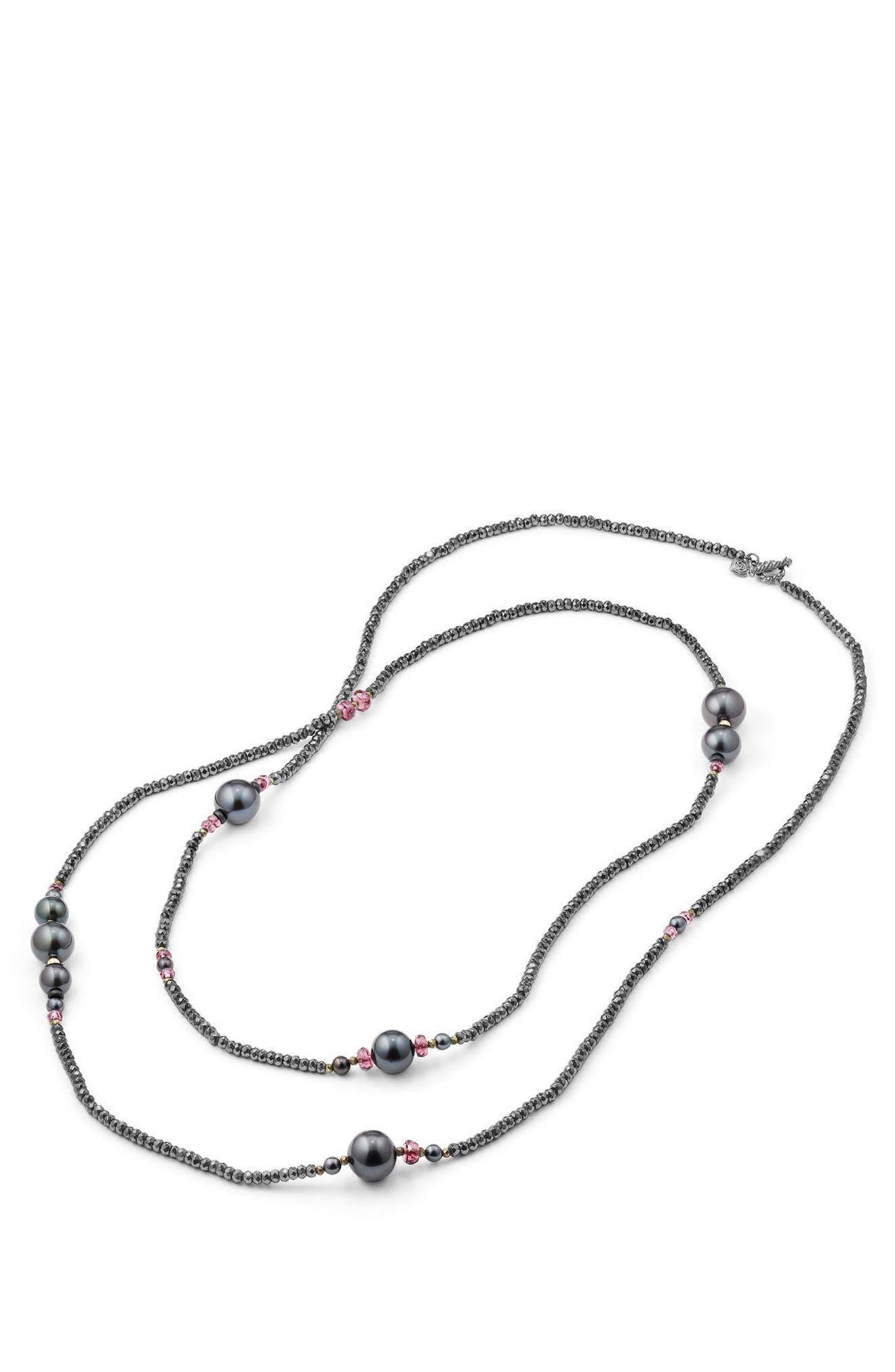 Solari - Tweejoux Pearl Necklace,                             Alternate thumbnail 2, color,                             SILVER/ GREY PEARL