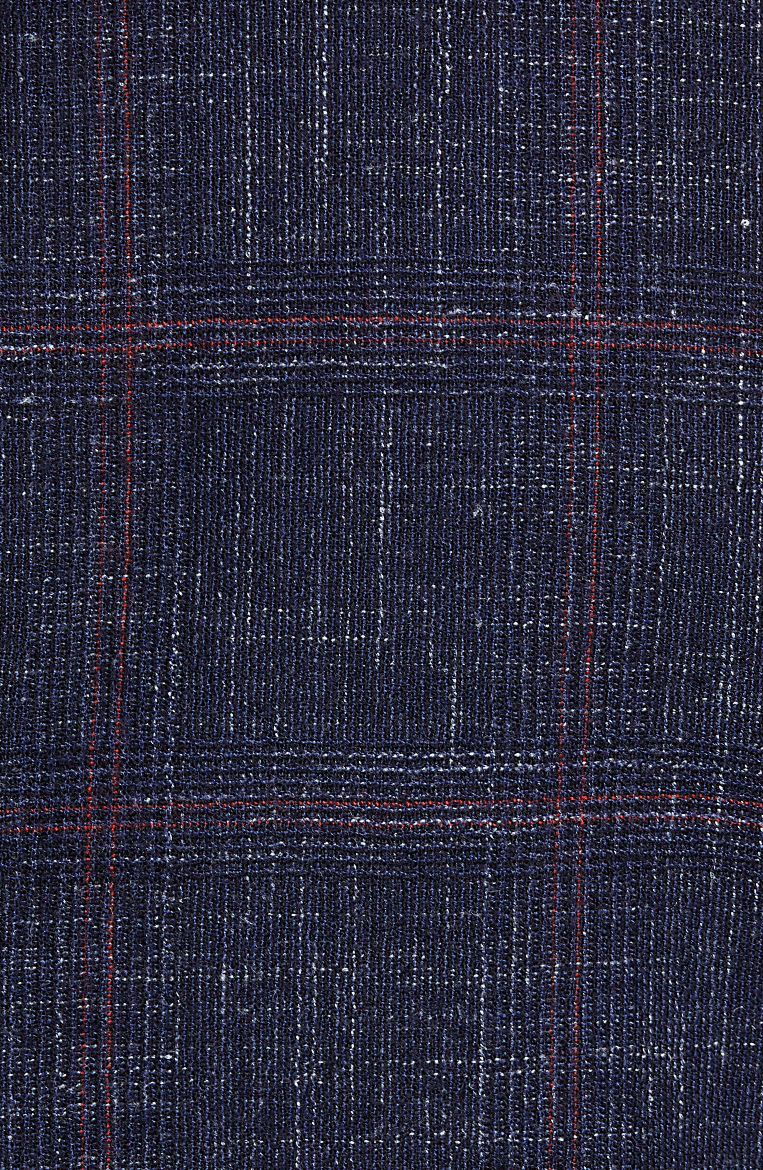 Nobis Trim Fit Plaid Wool Blend Sport Coat,                             Alternate thumbnail 6, color,                             DARK BLUE