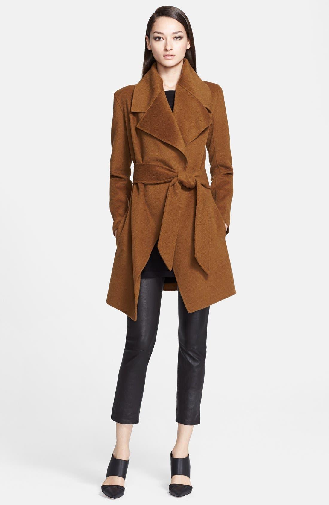 Donna Karan Collection Belted Cashmere Wrap Coat,                             Alternate thumbnail 2, color,                             930
