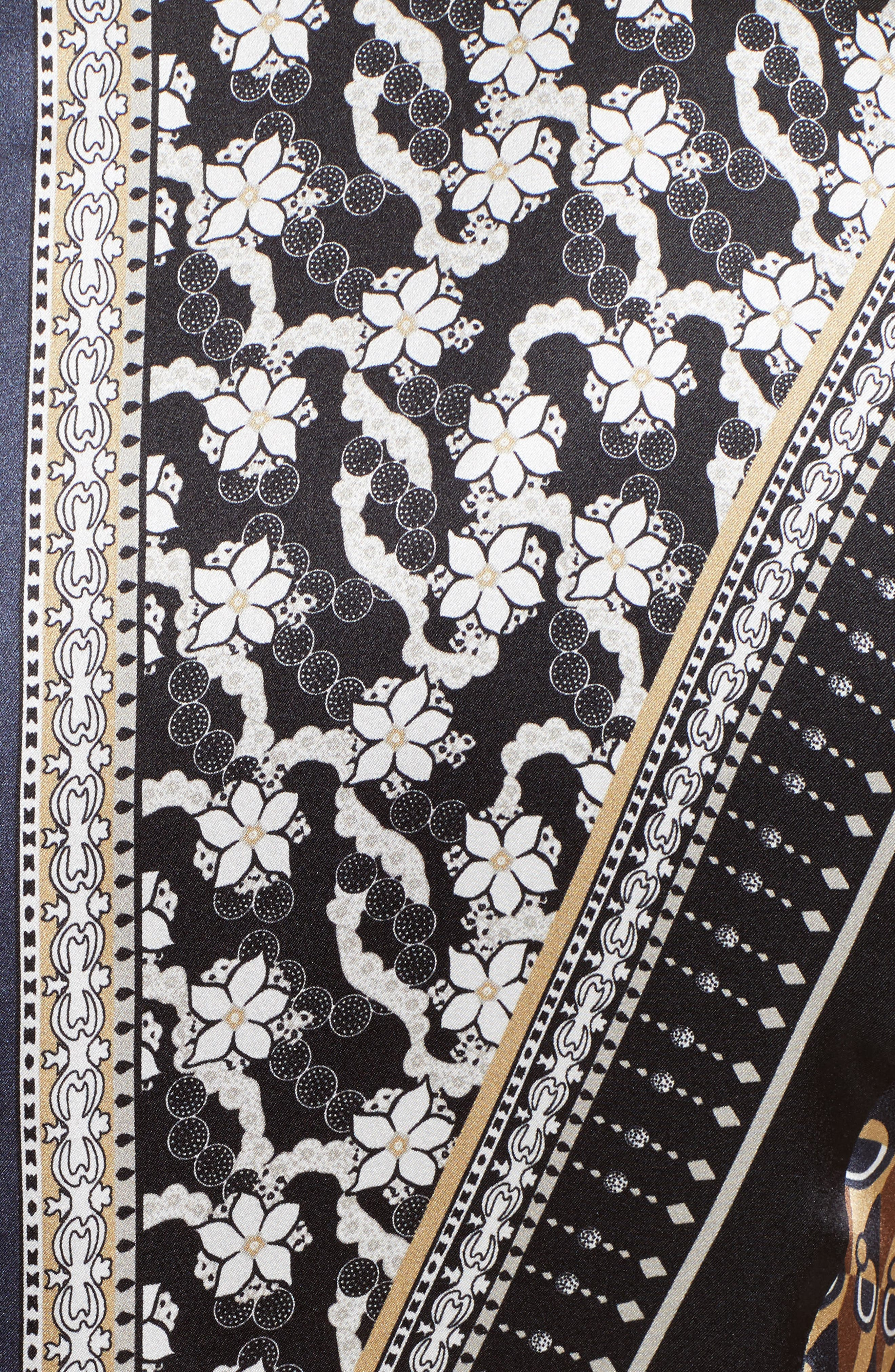 Sebella Silk Midi Dress,                             Alternate thumbnail 6, color,                             200