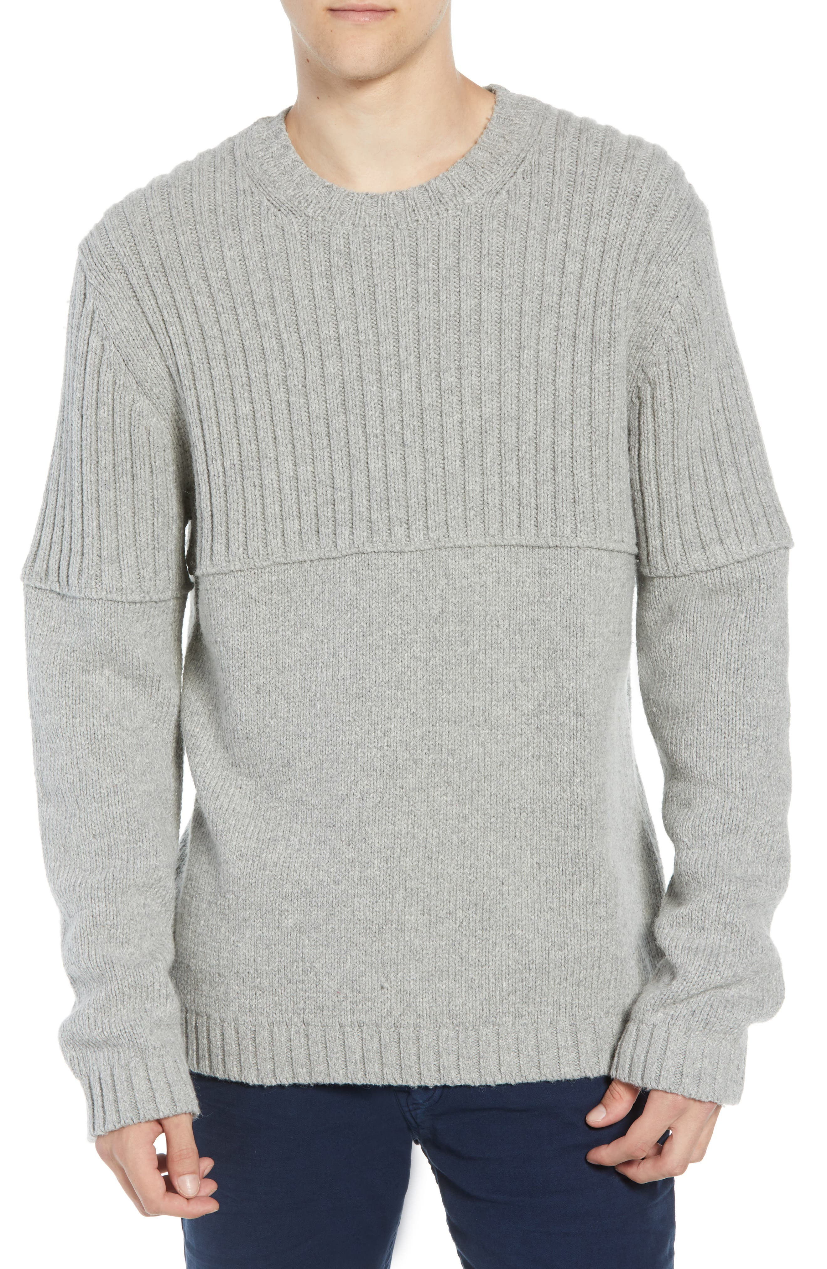 French Connection Split Linked Sweater, Grey