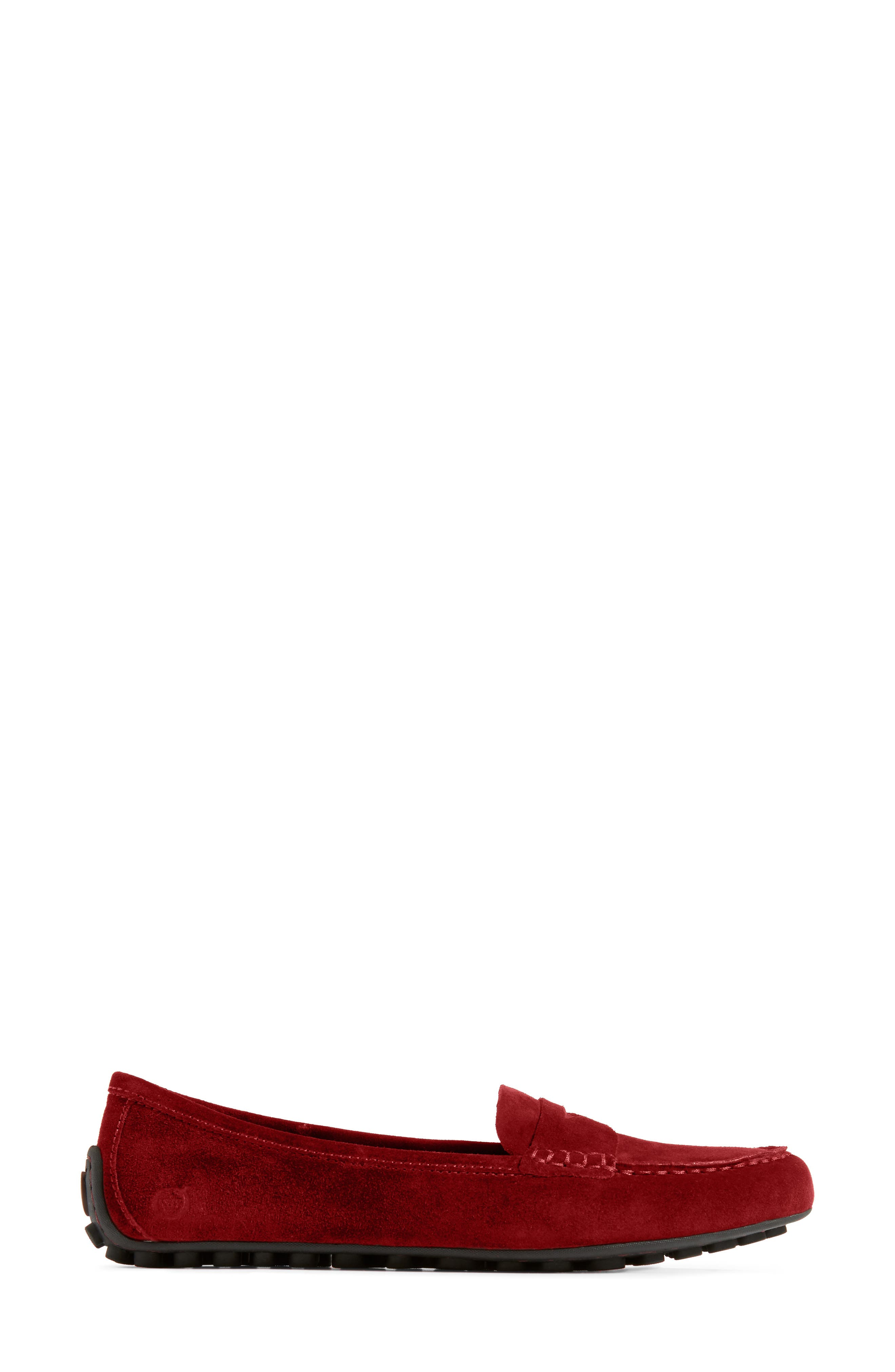 BØRN,                             Malena Penny Loafer,                             Alternate thumbnail 3, color,                             RED SUEDE