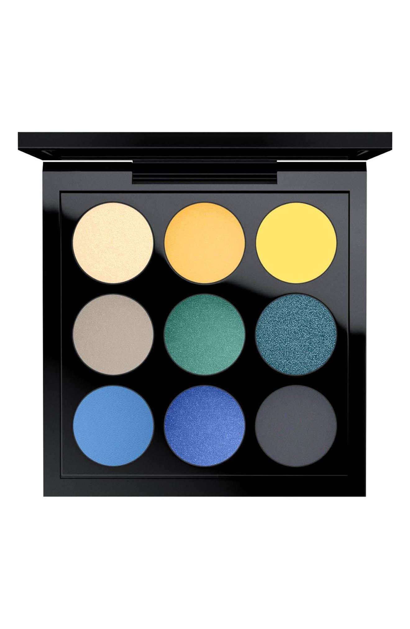 MAC Solar Glow Times Nine Eyeshadow Palette,                             Main thumbnail 4, color,
