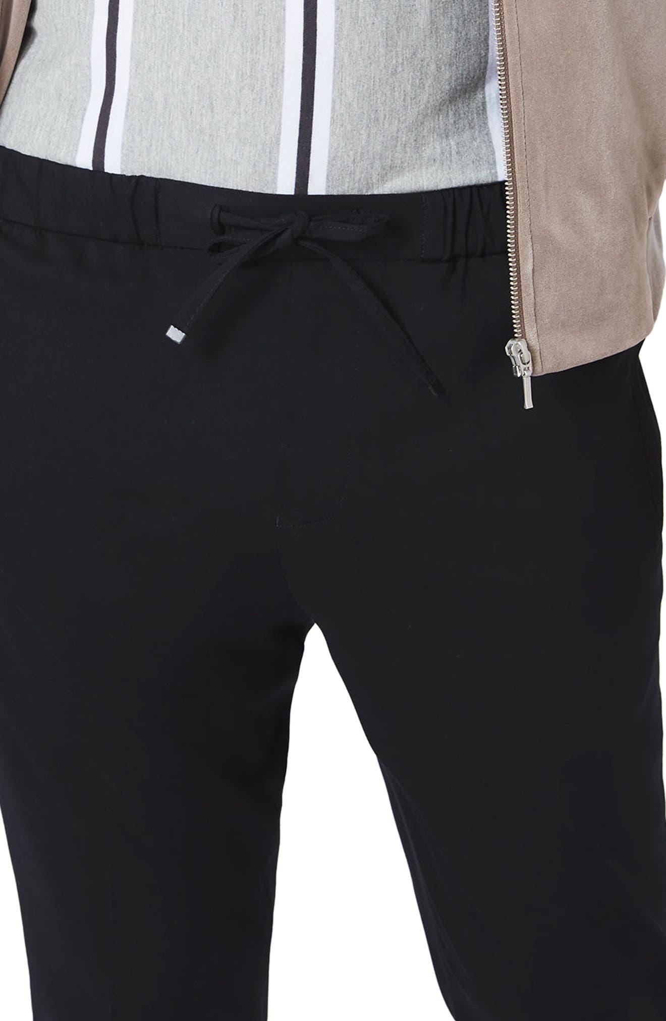 Cropped Smart Jogger Pants,                             Alternate thumbnail 3, color,                             001