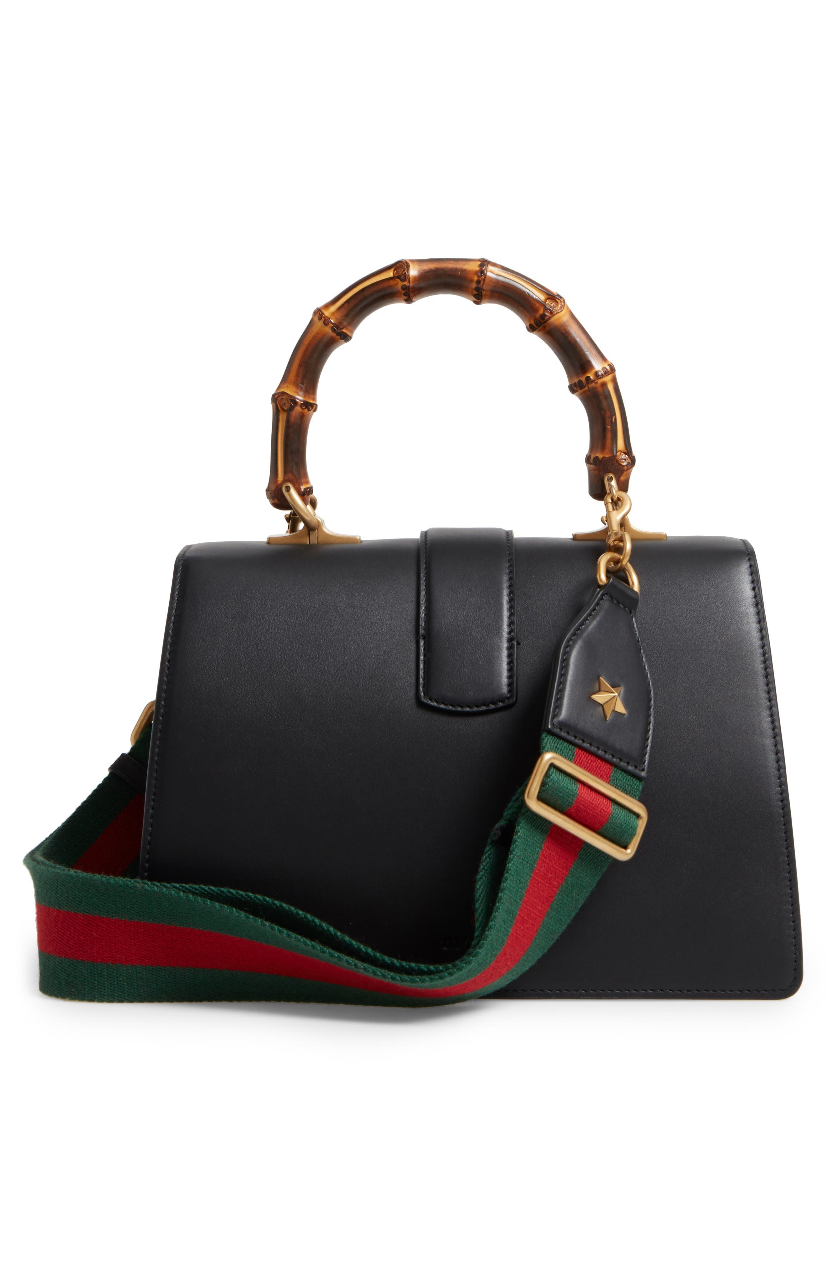 Large Dionysus Top Handle Leather Shoulder Bag,                             Alternate thumbnail 3, color,                             001