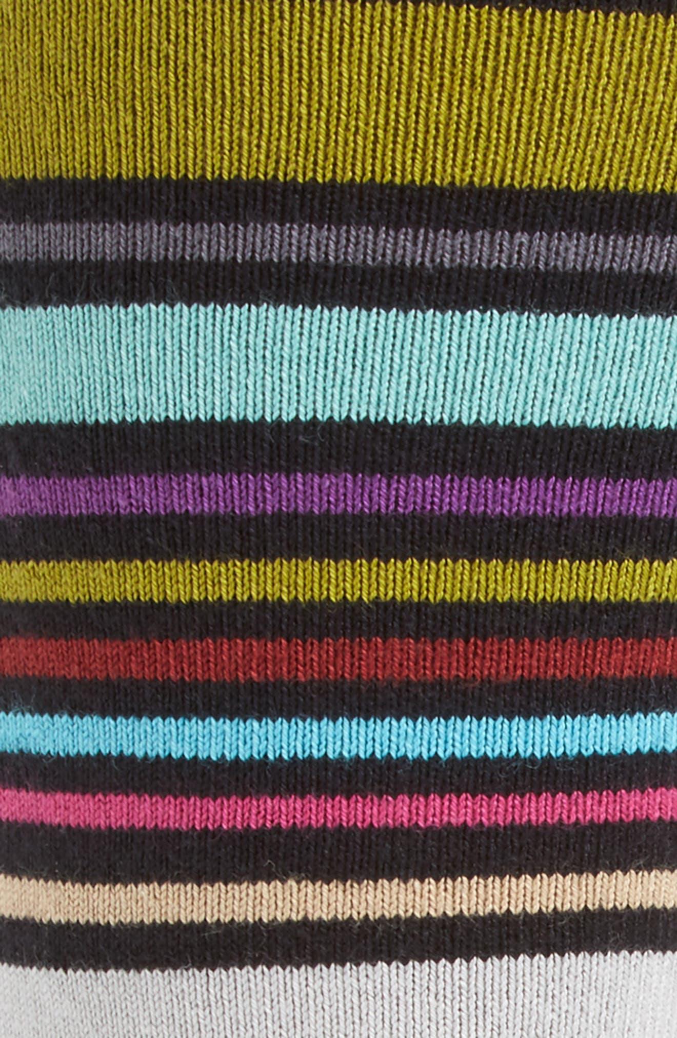 Wolfie Stripe Socks,                             Alternate thumbnail 2, color,                             001