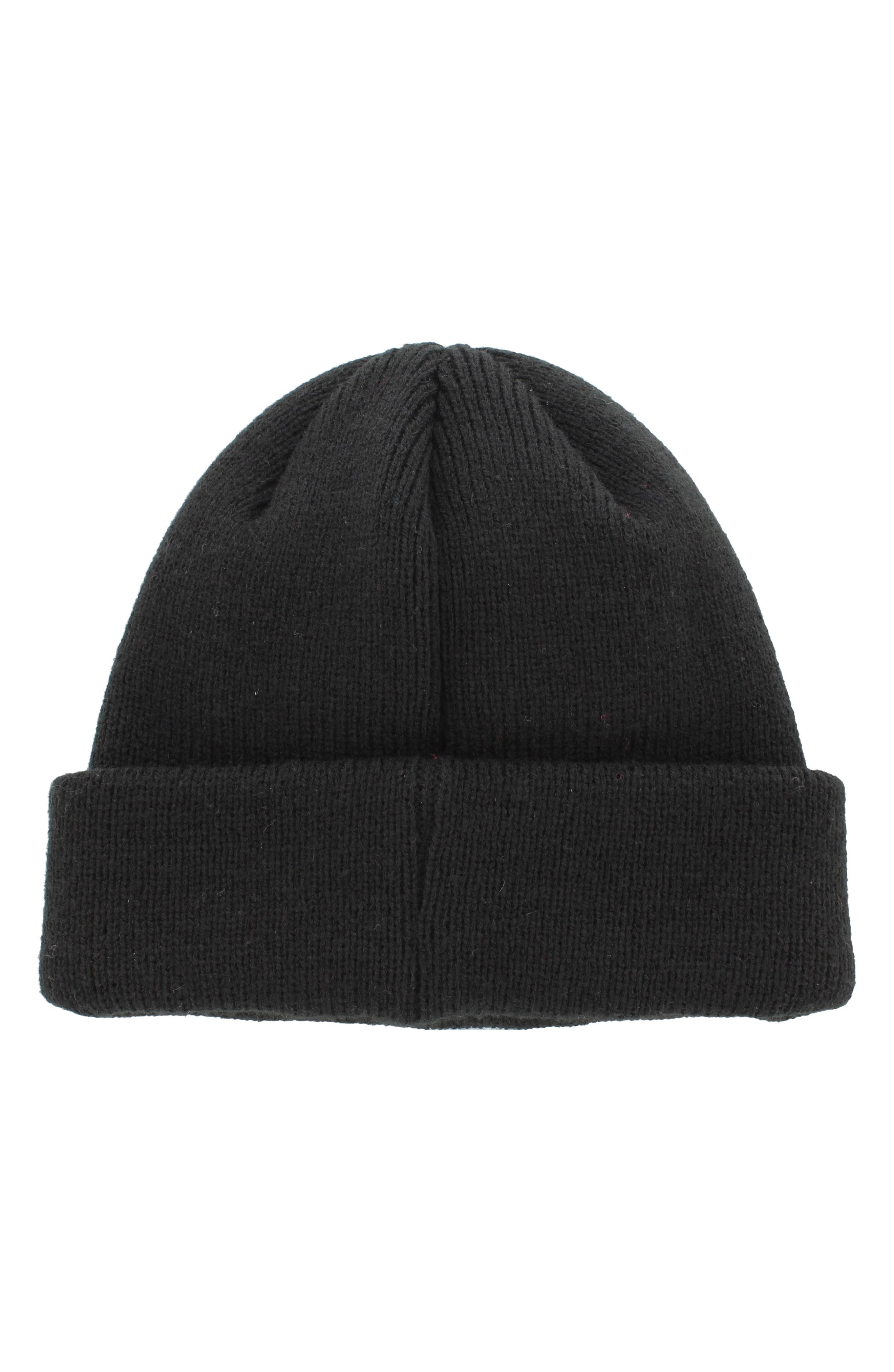 Trefoil II Knit Cap,                             Alternate thumbnail 3, color,                             001