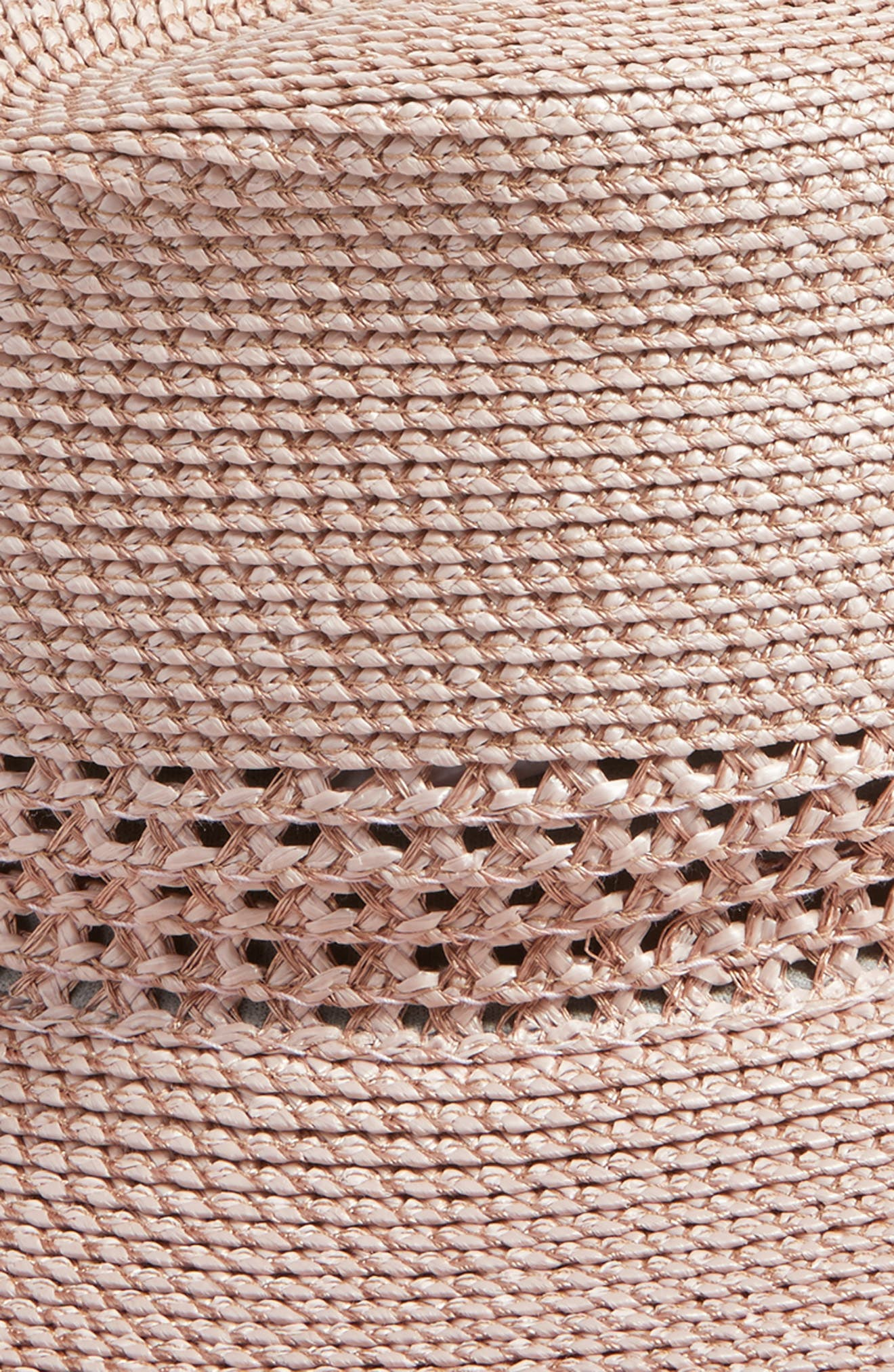 Bayou Packable Squishee<sup>®</sup> Fedora,                             Alternate thumbnail 3, color,                             BLUSH