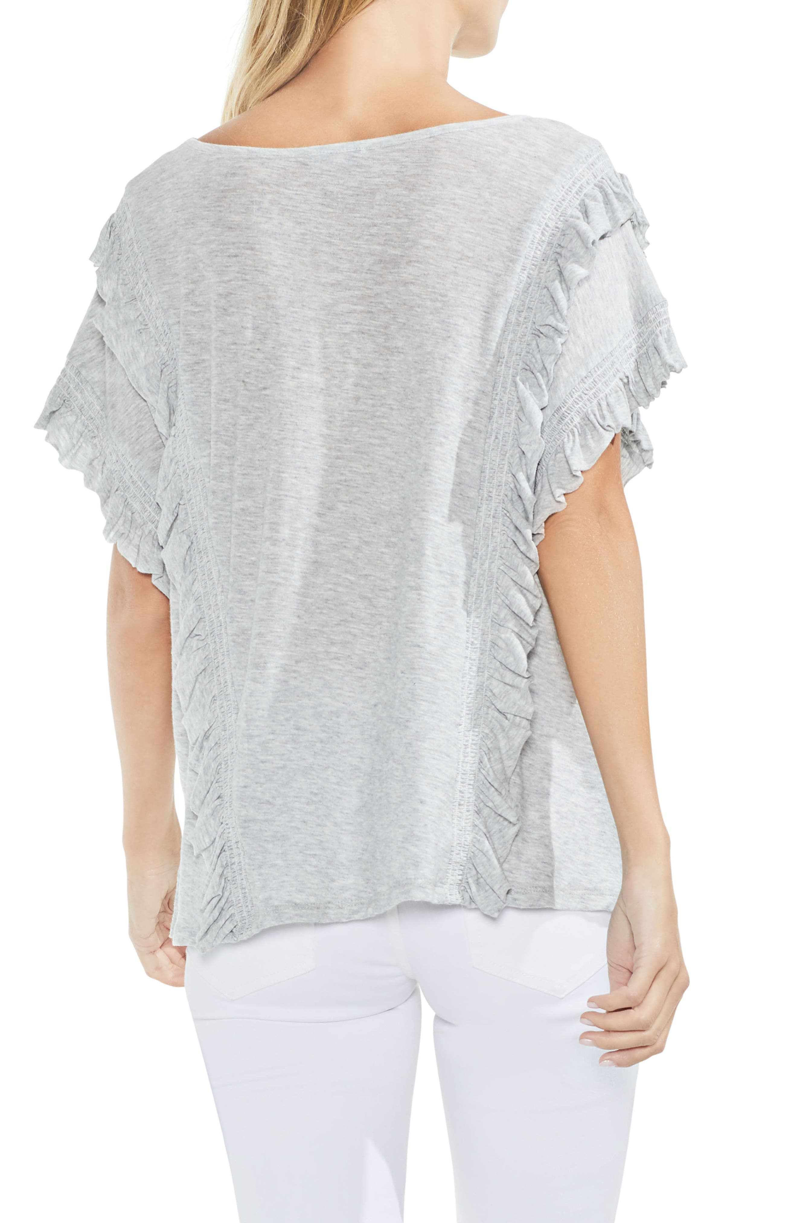 Ruffle Front Top,                             Alternate thumbnail 5, color,