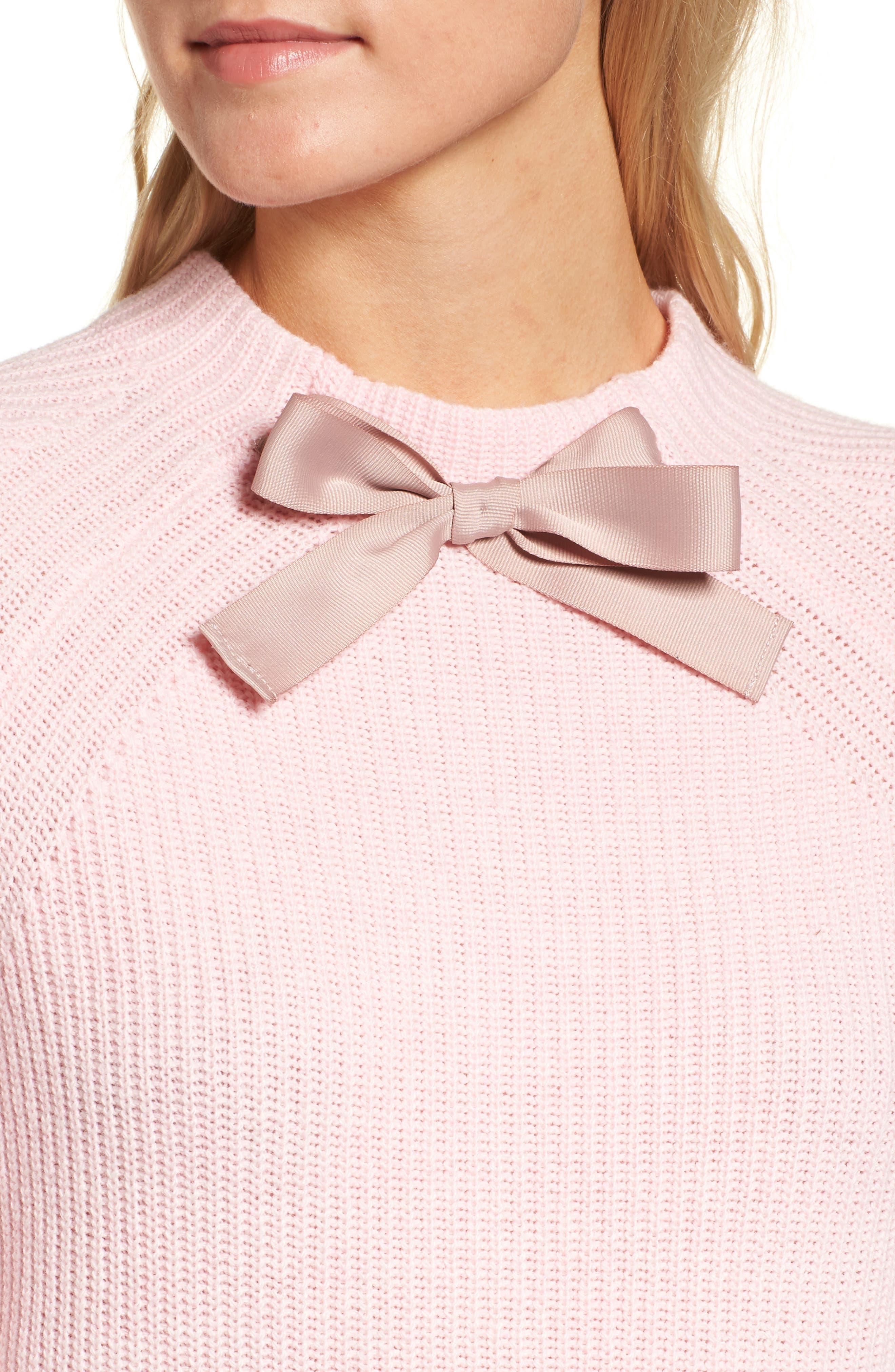 J.CREW,                             Gayle Tie Neck Sweater,                             Alternate thumbnail 4, color,                             650