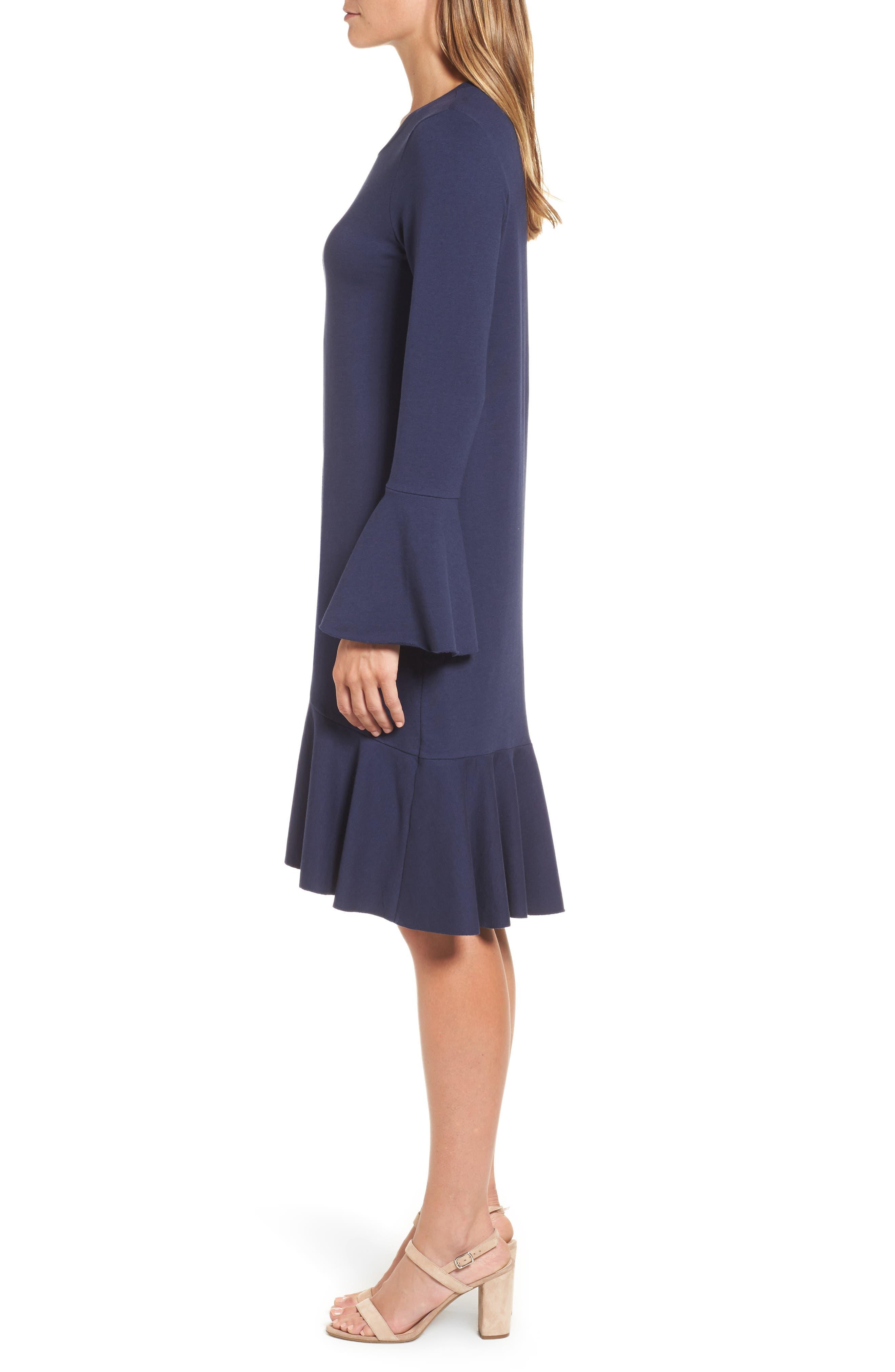Ruffle Detail Knit Dress,                             Alternate thumbnail 9, color,