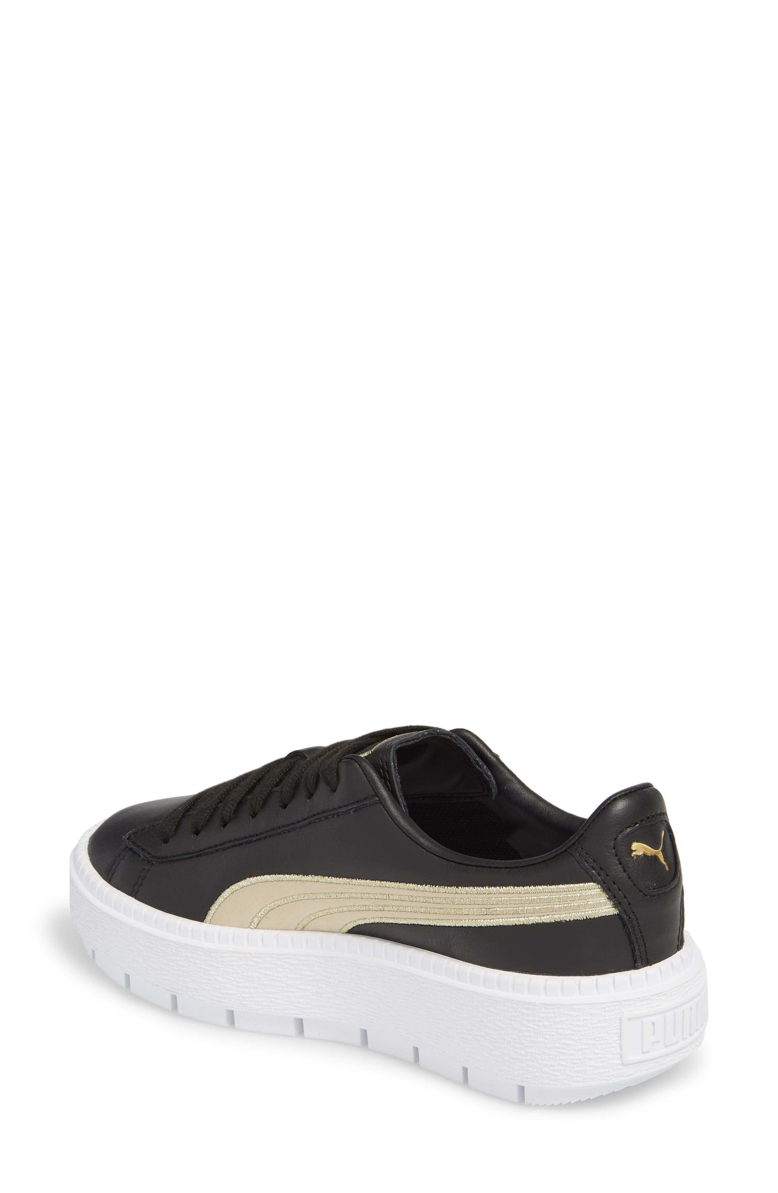 Platform Trace Sneaker,                             Alternate thumbnail 2, color,                             001