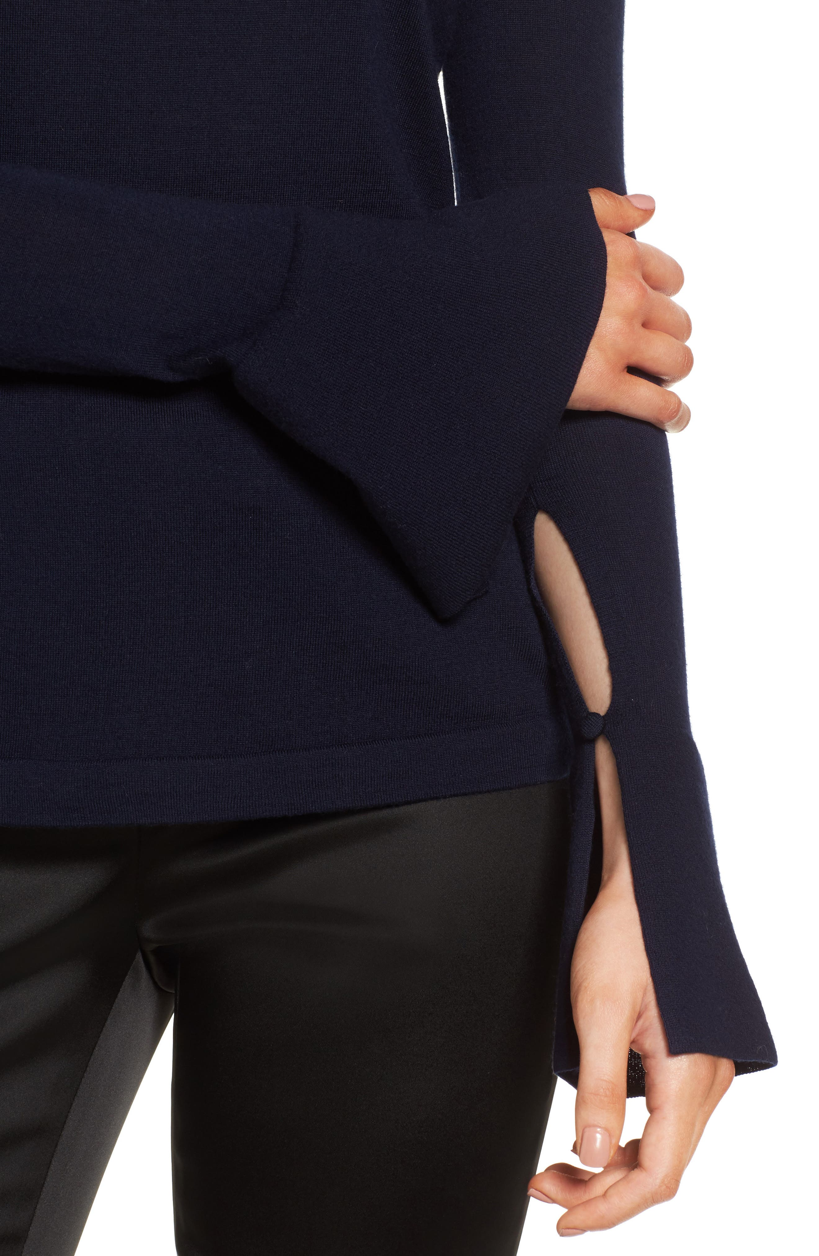 Split Cuff Merino Wool Turtleneck Sweater,                             Alternate thumbnail 11, color,
