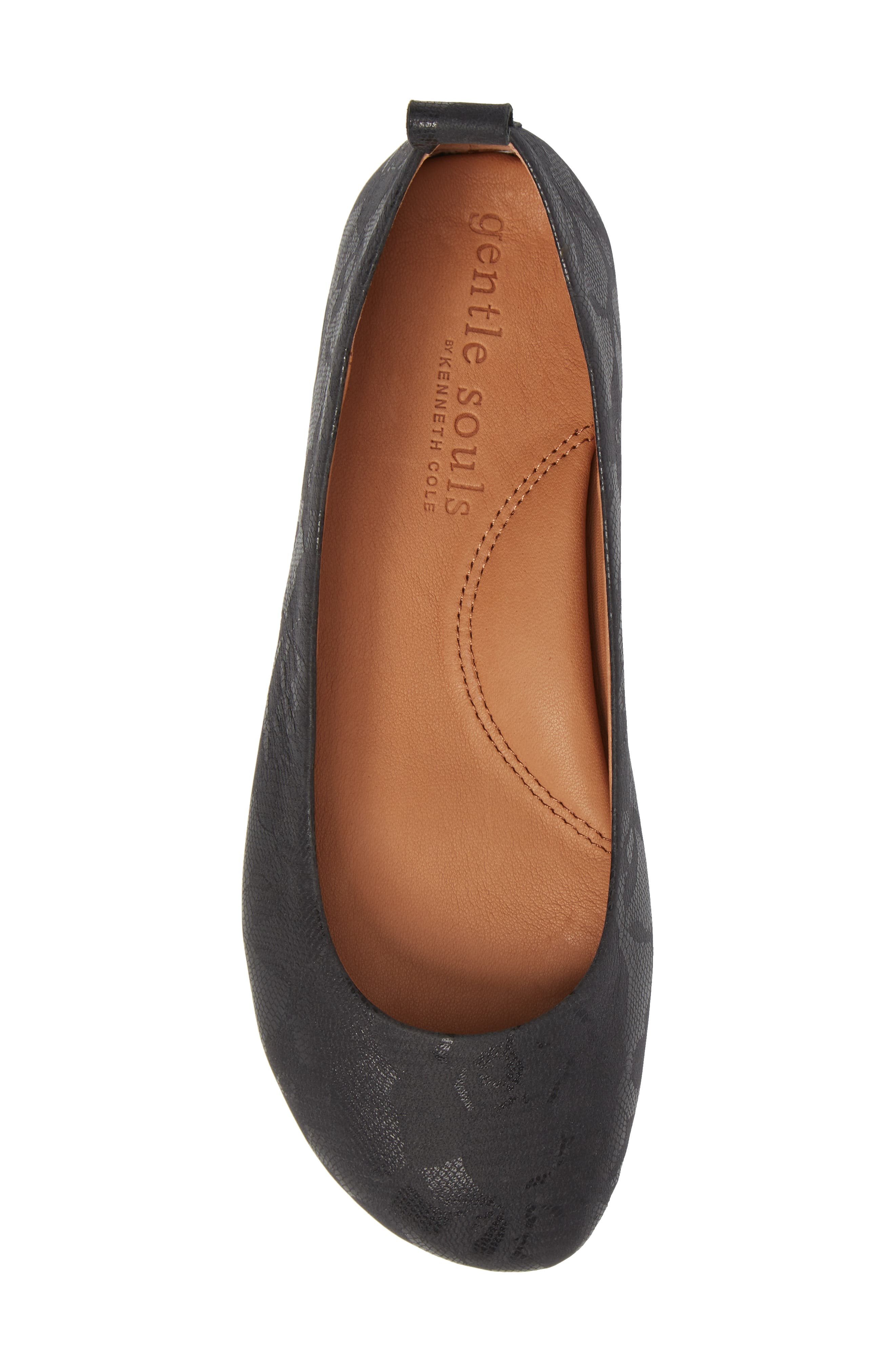 by Kenneth Cole Dana Flat,                             Alternate thumbnail 5, color,                             BLACK/ BLACK LEATHER