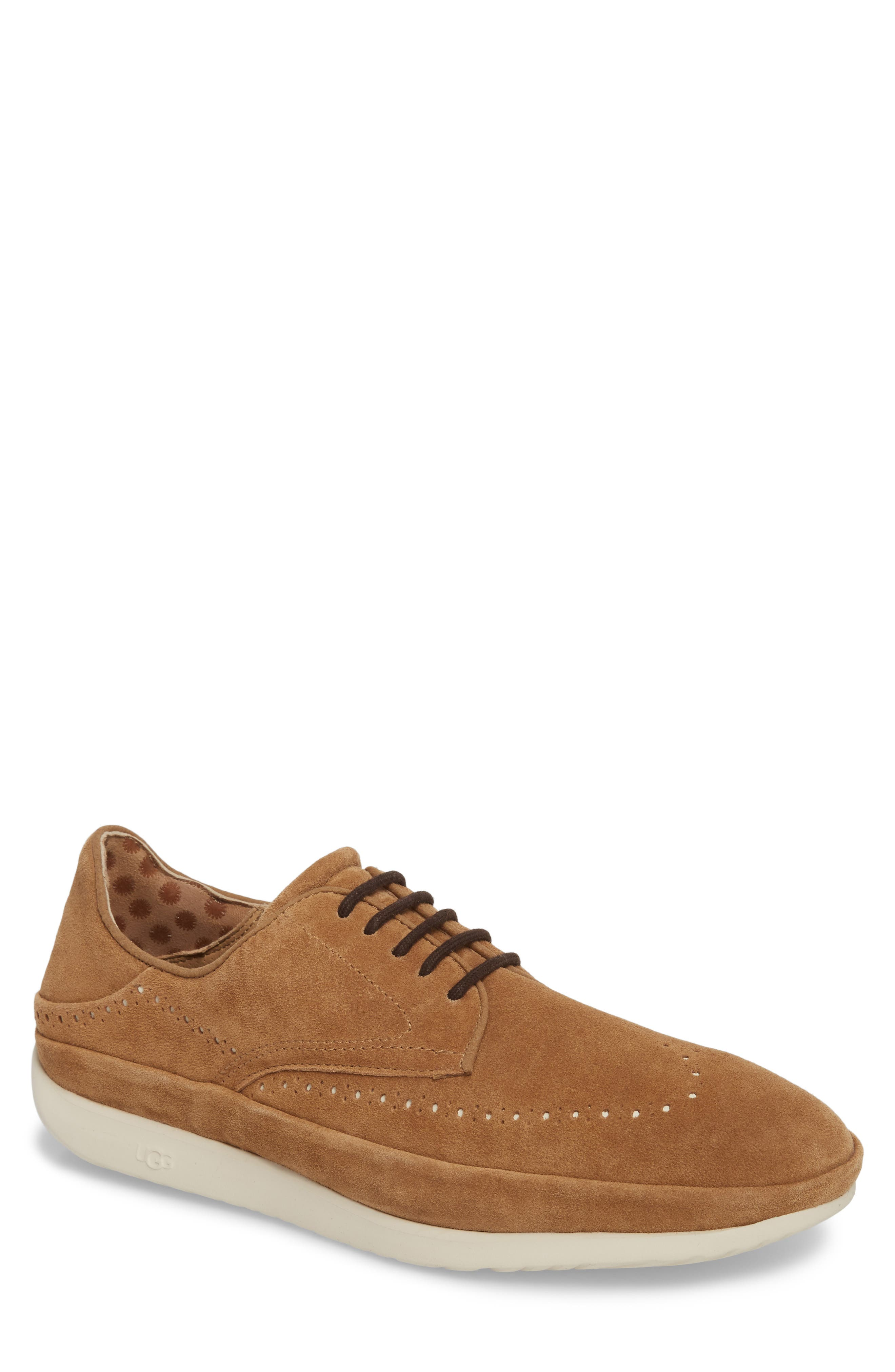 Cali Collapsible Wingtip Derby,                             Main thumbnail 1, color,                             CHESTNUT LEATHER