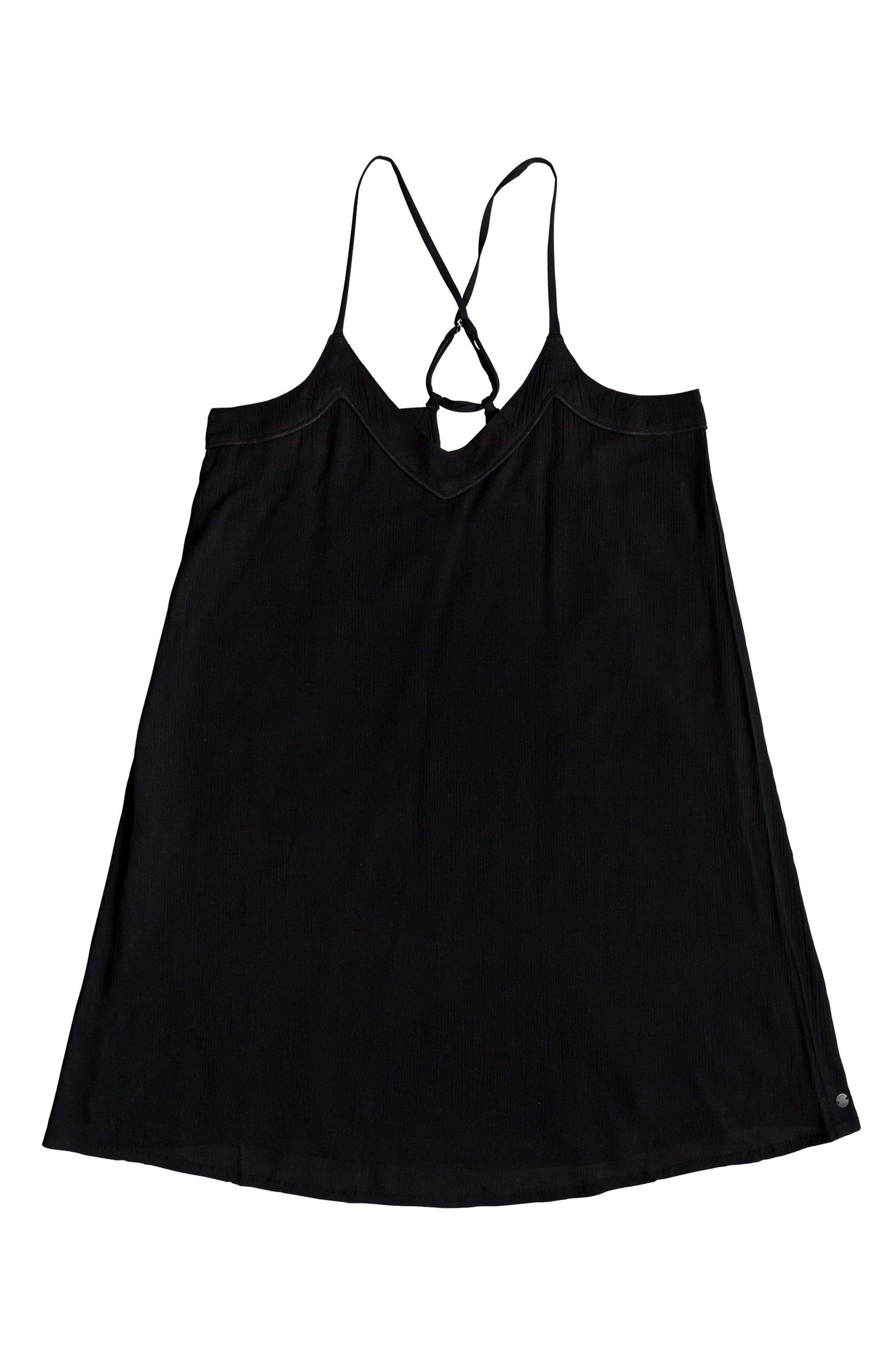 ROXY,                             Off We Go Minidress,                             Alternate thumbnail 3, color,                             TRUE BLACK